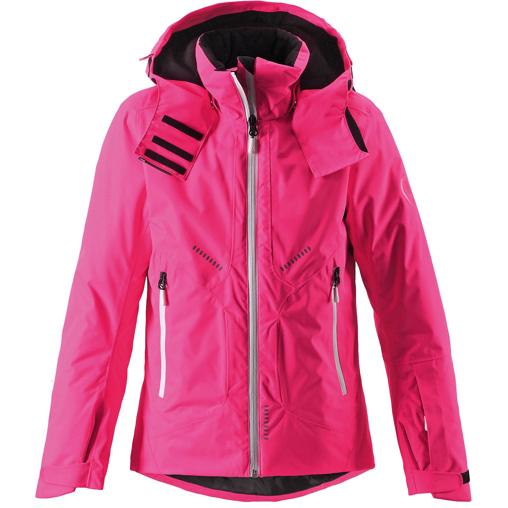 Куртка Reimatec® ReimaОдежда<br>Куртка Reimatec® Reima (Рейма), розовый от известного финского производителя теплой детской одежды Reima. Выполнена из полиэстера высокого качества с полиуретановым покрытием. Материал обладает воздухопроницаемыми, грязе и водоотталкивающими свойствами. Состав ткани защищает от потери цвета и формы даже при длительном использовании. Куртка имеет приталенный силуэт с удлиненной спинкой. У изделия – регулируемый капюшон, воротник-стойка, застежка-молния с защитой у подбородка, на рукавах предусмотрена регулировка по ширине за счет застежек на липучке. По бокам изделия имеются прорезные карманы на молнии. Все швы куртки проклеенные, имеется внутренняя застежка, что обеспечивает дополнительную защиту от холода и ветра. Изделие имеет среднюю степень утепления, его  можно носить до -20 градусов мороза.<br><br>Дополнительная информация:<br><br>- Предназначение: повседневная одежда, для прогулок<br>- Цвет: розовый<br>- Пол: для девочки<br>- Состав: 100% полиэстер<br>- Сезон: зима<br>- Особенности ухода: машинная стирка при температуре от 30 градусов, запрещается использовать отбеливающие средства<br><br>Подробнее:<br><br>• Для детей в возрасте: от 9 лет и до 10 лет<br>• Страна производитель: Китай<br>• Торговый бренд: Reima, Финляндия<br><br>Куртку Reimatec® Reima (Рейма), розовый можно купить в нашем интернет-магазине.<br><br>Ширина мм: 356<br>Глубина мм: 10<br>Высота мм: 245<br>Вес г: 519<br>Цвет: розовый<br>Возраст от месяцев: 96<br>Возраст до месяцев: 108<br>Пол: Женский<br>Возраст: Детский<br>Размер: 134,152,140,164,146,158<br>SKU: 4869720