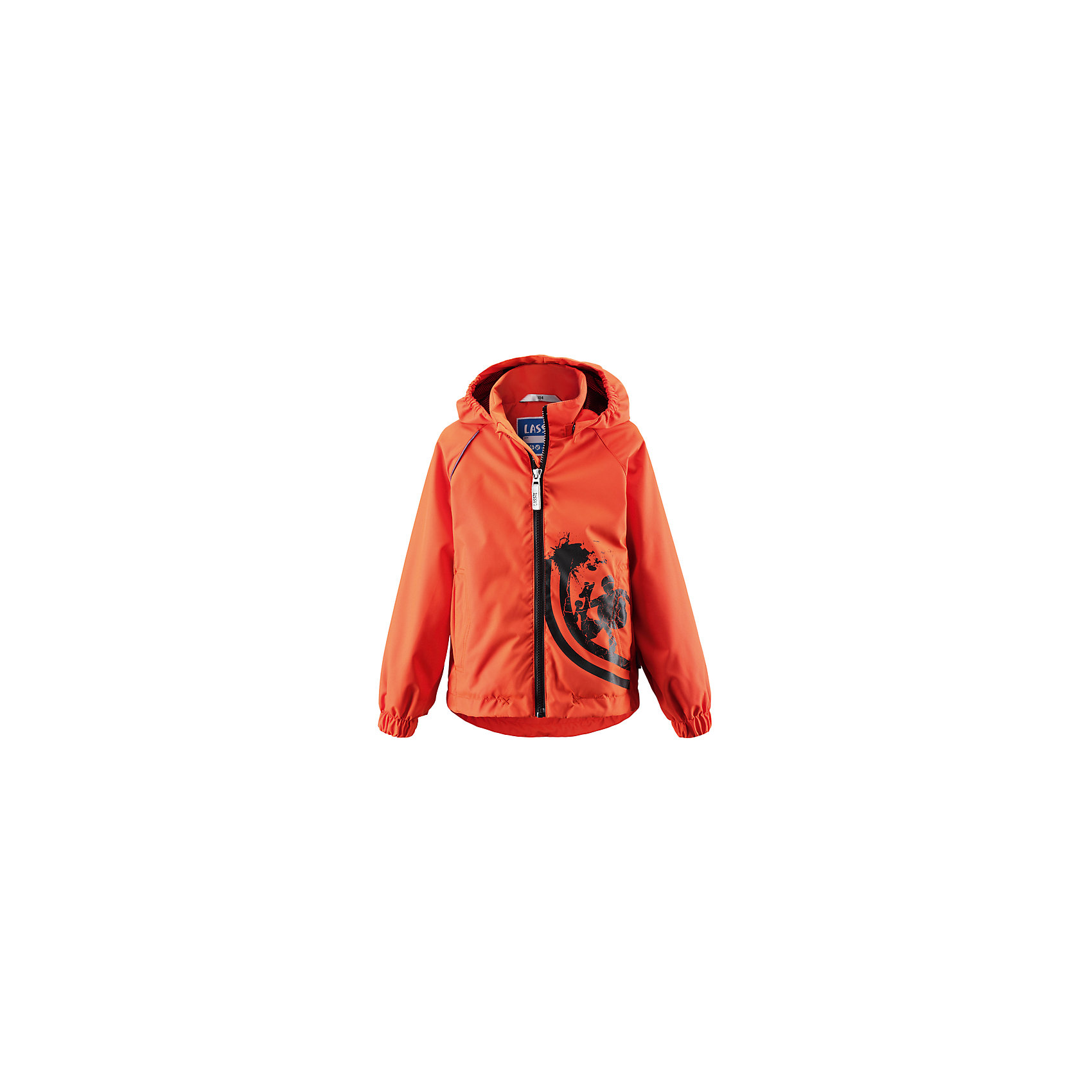 Куртка LASSIE by ReimaКуртка LASSIE by Reima (Лесси от Рейма), оранжевый от известного финского производителя  детской одежды Reima. Демисезонная куртка выполнена из полиэстера, который обладает высокой износоустойчивостью, воздухопроницаемыми, водооталкивающими и грязеотталкивающими свойствами. Изделие устойчиво к изменению формы и цвета даже при длительном использовании. Куртка имеет классическую форму: прямой силуэт с удлиненной спинкой, воротник-стойка, застежка-молния с защитой у подбородка, капюшон и рукава на резинках и 2 боковых прорезных кармана. Куртка имеет полиуретановое покрытие, что делает ее непромокаемой даже в дождливую погоду. Изделие выполнено в ярком дизайне: оранжевый цвет, на боковой полочке спереди имеется принт.   <br><br>Дополнительная информация:<br><br>- Предназначение: повседневная одежда для прогулок и активного отдыха<br>- Цвет: оранжевый<br>- Пол: для мальчика<br>- Состав: 100% полиэстер, полиуретановое покрытие<br>- Сезон: весна-осень (демисезонная)<br>- Особенности ухода: стирать изделие, предварительно вывернув его на левую сторону, не использовать отбеливающие вещества<br><br>Подробнее:<br><br>• Для детей в возрасте: от 5 лет и до 6 лет<br>• Страна производитель: Китай<br>• Торговый бренд: Reima, Финляндия<br><br>Куртку LASSIE by Reima (Лесси от Рейма), оранжевый можно купить в нашем интернет-магазине.<br><br>Ширина мм: 356<br>Глубина мм: 10<br>Высота мм: 245<br>Вес г: 519<br>Цвет: оранжевый<br>Возраст от месяцев: 72<br>Возраст до месяцев: 84<br>Пол: Унисекс<br>Возраст: Детский<br>Размер: 122,104,116<br>SKU: 4869802