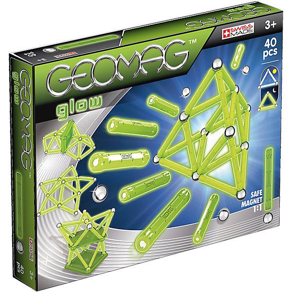 Магнитный конструктор Geomag  Glow 40Магнитные конструкторы<br>Характеристики:<br><br>• возраст: от 3 лет;<br>• материал: пластик, металл, магниты;<br>• комплектация: 40 дет.;<br>• размер: 27х4х21 см;<br>• вес: 500 гр;<br>• страна бренда: Швейцария;<br>• бренд: Geomag.<br><br><br>Магнитный конструктор Geomag  «Glow 40» состоит из шариков и палочек. Материал выполнен с добавлением светящихся в темноте материалов. Благодаря декоративным элементам на панелях, блоки предлагают еще больше творческих возможностей. <br><br>С помощью различных конструкций вы можете создавать флуоресцентные структуры из научно-фантастических фильмов - только ваше воображение ограничивает вас.<br>Конструктор развивает воображение и пространственное мышление.<br><br>Магнитный конструктор Geomag  «Glow 40» можно купить в нашем интернет-магазине.<br>Ширина мм: 275; Глубина мм: 213; Высота мм: 45; Вес г: 505; Возраст от месяцев: 36; Возраст до месяцев: 72; Пол: Унисекс; Возраст: Детский; SKU: 4870905;