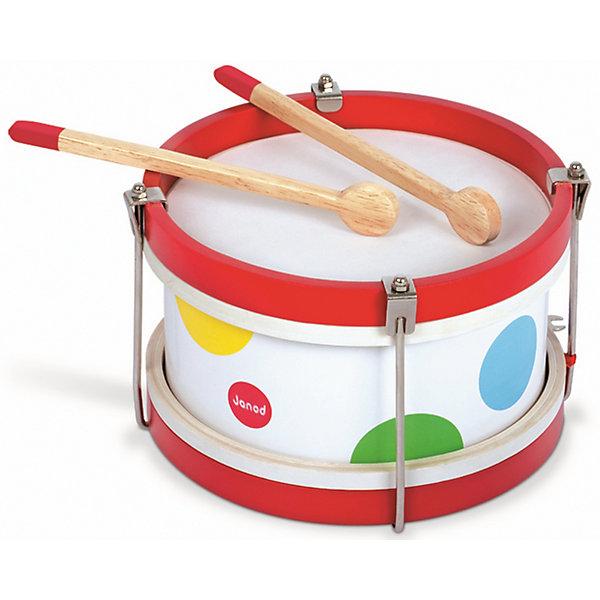 Деревянный барабан, JanodДетские музыкальные инструменты<br>Развивать музыкальные способности можно с детства! Этот небольшой барабан очень удобен - его можно брать с собой в дорогу, благодаря продуманной форме хранится он очень компактно. Игра на музыкальных инструментах развивает также мелкую моторику и художественный вкус. Такая игрушка надолго занимает детей и помогает увлекательно провести время!<br>Барабан выглядит очень симпатично, издает приятный звук. Он разработан опытными специалистами, сделан из высококачественных материалов, безопасных для детей.<br><br>Дополнительная информация:<br><br>материал: дерево, металл, пластик, краски на водной основе;<br>упаковки: 24 х 24 х 17 см;<br>цвет: разноцветный.<br><br>Деревянный барабан от компании Janod можно купить в нашем магазине.<br><br>Ширина мм: 24<br>Глубина мм: 16<br>Высота мм: 24<br>Вес г: 720<br>Возраст от месяцев: 24<br>Возраст до месяцев: 2147483647<br>Пол: Унисекс<br>Возраст: Детский<br>SKU: 4871769
