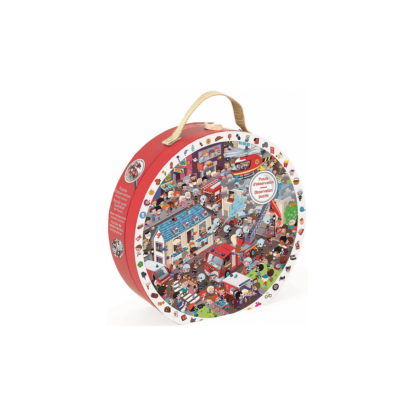 Пазл большой в круглом чемоданчике Пожарные, 208 деталей, JanodКлассические пазлы<br>Пазл большой в круглом чемоданчике Пожарные, 208 элементов, Janod (Жанод) ? игрушка-головоломка от французского бренда Janod. Пазлы от Janod (Жанод) отличает высокий художественный стиль, яркие краски, сочетаемость цветов и оттенков, простые, но добрые сюжеты и привлекательные изображения персонажей.<br>Пазл Пожарные, Janod (Жанод) состоит из 208 элементов и имеет необычную форму – собранная картинка круглая, размером 50x50 см. Пазл представляет  собой сюжетное изображение спасательной операции на пожаре, со множеством персонажей и пожарной техники. Задача ребенка заключается в том, чтобы собрать полное изображение. <br>Собирая пазлы,  ребенок развивает образное и логическое мышление, тренирует память и внимательность, приучается к усидчивости. При составлении рассказа по картинке ? развивает воображение и обучается связной речи.  <br>Пазл большой в круглом чемоданчике Пожарные, 208 деталей, Janod (Жанод) упакован в подарочный круглый чемоданчик с ручкой и замочком.<br><br>Дополнительная информация:<br><br>- Вид игр: игры-головоломки, сюжетно-ролевые<br>- Предназначение: для дома<br>- Материал: картон<br>- Комплектация: 208 элементов, чемоданчик<br>- Размер (Д*Ш*В): 25*7*24 см<br>- Вес: 710 г <br>- Пол: для мальчиков<br>- Особенности ухода: можно протирать сухой губкой<br><br>Подробнее:<br><br>• Для детей в возрасте: от 6 лет <br>• Страна производитель: Китай<br>• Торговый бренд: Janod<br><br>Пазл большой в круглом чемоданчике Пожарные, 208 деталей, Janod (Жанод) можно купить в нашем интернет-магазине.<br><br>Ширина мм: 25<br>Глубина мм: 7<br>Высота мм: 24<br>Вес г: 700<br>Возраст от месяцев: 72<br>Возраст до месяцев: 2147483647<br>Пол: Унисекс<br>Возраст: Детский<br>SKU: 4871781