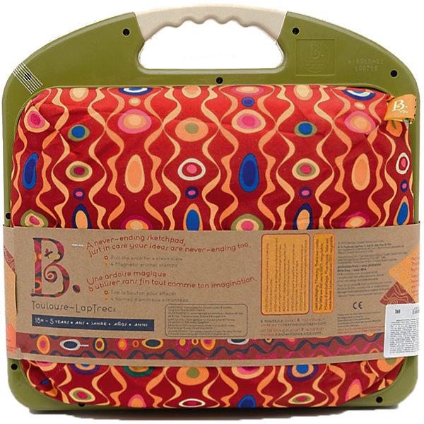 Магнитная доска для рисования, B DOT, цвета в ассортиментеКоврики и доски для рисования<br>Магнитная доска для рисования, B DOT (Би Дот), цвета в ассортименте разработана дизайнерами канадской компании Battat. Торговый бренд B DOT  (Би Дот) – это новое поколение игрушек, отличающихся своей многофункциональностью, реалистичностью и экологически безопасными материалами. <br>Магнитная доска для рисования, B DOT (Би Дот), цвета в ассортименте  – это идеальное решение для первых уроков рисования детей от двух лет. Комплект состоит из доски, канадаша и четырех магнитов в форме животных. Теперь рисование будет приносить радость не только ребенку, но и родителям, так как им не придется после рисования отмывать и ребенка, и стол. Ребенку особо понравится рисовать на магнитной доске, ведь это не бумага, которая быстро заканчивается, а если что-то не получилось, то можно стереть, потянув за круглую ручку сбоку. Компактный размер доски позволяет ее брать с собой в дальние поездки и путешествия.<br>Магнитная доска для рисования, B DOT, цвета в ассортименте способствует развитию воображения и фантазии, оказывает влияние на развитие мелкой моторику, учит художественно-эстетическому восприятию, терпению и усидчивости.<br> <br>Дополнительная информация:<br><br>- Вид игр: изобразительная деятельность (рисование)<br>- Предназначение: для дома, для детского сада<br>- Материал: пластик, резина, магнит<br>- Комплектация: доска для рисования, карандаш, 4 магнита<br>- Вес: 810 г<br>- Размер всей упаковки (Д*Ш*В): 33*7*31 см<br>- Пол: для девочек/для мальчиков<br>- Особенности ухода: разрешается протирать сухой губкой<br><br>Подробнее:<br><br>• Для детей в возрасте: от 2 лет<br>• Страна производитель: Китай<br>• Торговый бренд: B DOT<br>• ВНИМАНИЕ! Данный артикул представлен в разных вариантах исполнения. К сожалению, заранее выбрать определенный вариант невозможно. При заказе нескольких магнистых досок возможно получение одинаковых<br><br>Магнитную доску для рисования, B DOT (Би Дот), цвет