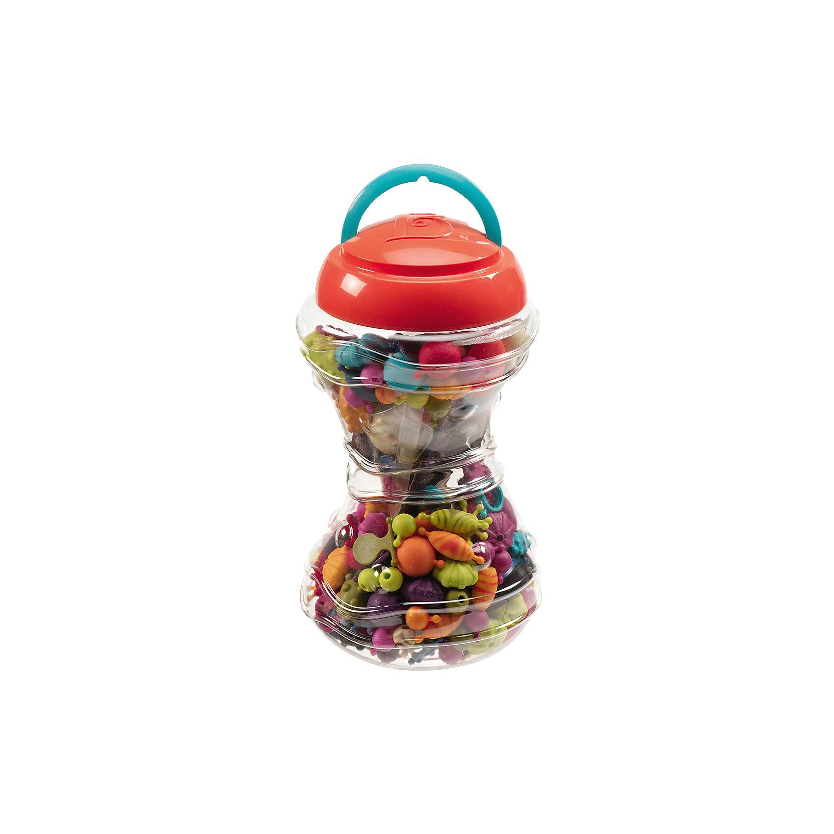 Мини-набор для детских украшений, B DOTРукоделие<br>Мини-набор для детских украшений, B DOT (Би Дот) – уникальный набор, разработанный дизайнерами канадской компании Battat. Торговый бренд B DOT  (Би Дот) – это новое поколение игрушек, отличающихся своей многофункциональностью, реалистичностью и экологически безопасными материалами. <br>Мини-набор для детских украшений, B DOT (Би Дот)  не оставит равнодушной ни одну девочку. Кто же не любит украшения? А если они еще и дизайнерские, и сделанные своими руками? Мини-набор, состоящий из 300 деталей позволит воплотить даже самые оригинальные задумки маленького дизайнера. Все элементы выполнены из экологически безопасного пластика, ярких модных оттенков, соединяются между собой без особого труда, имеют разные формы. В комплекте имеются основания для браслетов и колец. Количество возможных вариаций сборки украшений ограничено только фантазией ребенка.<br>Мини-набор для детских украшений, B DOT (Би Дот) способствует развитию мелкой моторики, воображения и фантазии, оказывает влияние на формирование чувства стиля и эстетического вкуса, учит терпению и усидчивости.<br> <br>Дополнительная информация:<br><br>- Вид игр: конструирование<br>- Предназначение: для дома<br>- Материал: пластик<br>- Комплектация: 300 деталей, в том числе 7 оснований для колец и 5 оснований для браслетов, банка с ручкой<br>- Вес: 1 кг<br>- Размер всей упаковки (Д*Ш*В): 15*25*13 см<br>- Пол: для девочек<br>- Особенности ухода: разрешается протирать сухой губкой<br><br>Подробнее:<br><br>• Для детей в возрасте: от 2 лет<br>• Страна производитель: Китай<br>• Торговый бренд: B DOT<br><br>Мини-набор для детских украшений, B DOT (Би Дот), цвета в ассортименте можно купить в нашем интернет-магазине.<br><br>Ширина мм: 13<br>Глубина мм: 13<br>Высота мм: 23<br>Вес г: 1080<br>Возраст от месяцев: 24<br>Возраст до месяцев: 2147483647<br>Пол: Унисекс<br>Возраст: Детский<br>SKU: 4871801