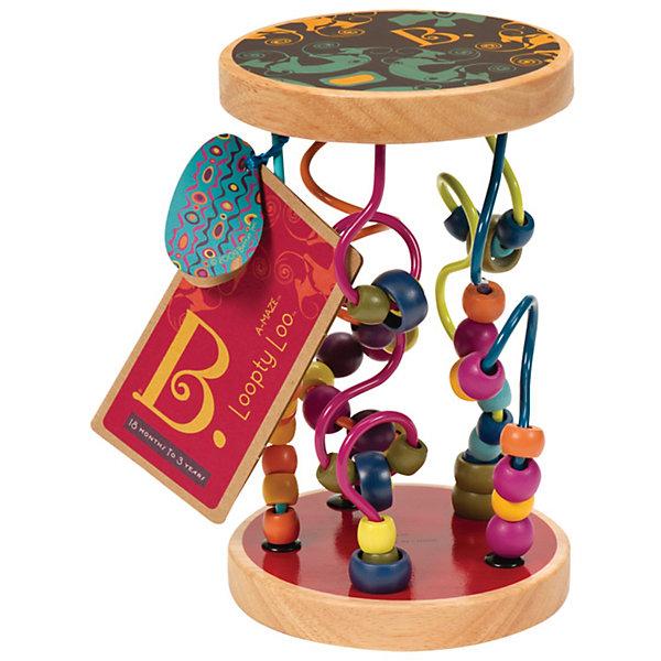 Игрушка Разноцветный лабиринт, B DOTДеревянные игрушки<br>Игрушка Разноцветный лабиринт, B DOT  (Би Дот) – развивающая игрушка от канадской компании Battat. Торговый бренд B DOT  (Би Дот) – это новое поколение игрушек, отличающихся своей многофункциональностью, яркостью и экологически безопасными материалами. <br>Игрушка Разноцветный лабиринт, B DOT  (Би Дот)  предназначена для детей от 1,5 лет. Представляет собой лабиринт, состоящий из 47 ярких деревянных бусин, нанизанных на цветные металлические стержни, которые тщательно и надежно закреплены с двух сторон на деревянных круглых основах-подставках. Игрушку можно ставить на основу и перебирать бусинки, также ее можно катать, при этом бусинки издают мягкие звуки, а можно, переворачивая, наблюдать, как бусинки сами передвигаются по извилистым металлическим прутикам.<br>Игрушка Разноцветный лабиринт, B DOT  (Би Дот) способствует развитию мелкой моторики, тактильному восприятию, учит координации движений, оказывает влияние на цветовое и слуховое восприятие.<br> <br>Дополнительная информация:<br><br>- Вид игр: развивающие<br>- Предназначение: для дома<br>- Материал: пластик, металл, дерево<br>- Вес: 700 г<br>- Размер всей упаковки (Д*Ш*В): 20*13*13 см<br>- Пол: для девочек/для мальчиков<br>- Особенности ухода: разрешается протирать сухой губкой<br><br>Подробнее:<br><br>• Для детей в возрасте: от 1,5 лет<br>• Страна производитель: Китай<br>• Торговый бренд: B DOT<br><br>Игрушку Разноцветный лабиринт, B DOT (Би Дот), цвета в ассортименте можно купить в нашем интернет-магазине.<br><br>Ширина мм: 13<br>Глубина мм: 13<br>Высота мм: 20<br>Вес г: 700<br>Возраст от месяцев: 24<br>Возраст до месяцев: 2147483647<br>Пол: Унисекс<br>Возраст: Детский<br>SKU: 4871802