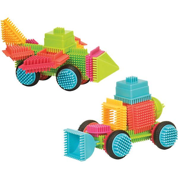 Конструктор игольчатый в чемоданчике, 50 деталей, Bristle BlocksПластмассовые конструкторы<br>Конструктор игольчатый в чемоданчике, 50 деталей, Bristle Blocks, Battat – оригинальный конструктор от канадского кампании Battat. Оригинальность конструктора заключается в его форме: все элементы имеют игольчатую поверхность. Так называемые, иголки абсолютно безопасны, они имеют закругленную форму. Кроме того, иголки являются способом закрепления деталей конструктора между собой. Набор выполнен из экологически безопасного пластика, окрашенного в яркие цвета, предназначен для детей от 2-х лет. Все элементы конструктора устойчивы к механическим повреждениям и изменению цвета.<br>Конструктор игольчатый в чемоданчике, 50 деталей, Bristle Blocks, Battat состоит 50 разноцветных элементов, которые позволяют конструировать различные предметы, строения и фигуры. В комплекте имеются квадратные, треугольные, прямоугольные и круглые элементы. В комплекте имеется инструкция по сборке конструктора. Конструктор упакован в пластиковый чемоданчик. <br>Конструктор игольчатый в чемоданчике, 50 деталей, Bristle Blocks, Battat способствует развитию координации движений, пространственному и логическому мышлению. Благодаря особенной форме конструктора, в процессе игры массируются подушечки пальчиков, что способствует развитию их чувствительности.<br><br>Дополнительная информация:<br><br>- Вид игр: конструирование<br>- Предназначение: для дома, для детского сада<br>- Материал: пластик в сочетании с латексом<br>- Комплектация: 50 элементов, пластиковый чемоданчик, буклет-инструкция<br>- Размеры (Д*Ш*В): 24,1*10,5*21 см<br>- Вес всего набора: 1 кг 500 г<br>- Пол: для мальчиков/для девочек<br>- Особенности ухода: можно мыть в теплой мыльной воде<br><br>Подробнее:<br><br>• Для детей в возрасте: от 2 лет <br>• Страна производитель: Китай<br>• Торговый бренд: B DOT<br><br>Конструктор игольчатый в чемоданчике, 50 деталей, Bristle Blocks, Battat  можно купить в нашем интернет-магазине.<br><br>Ширина мм: 
