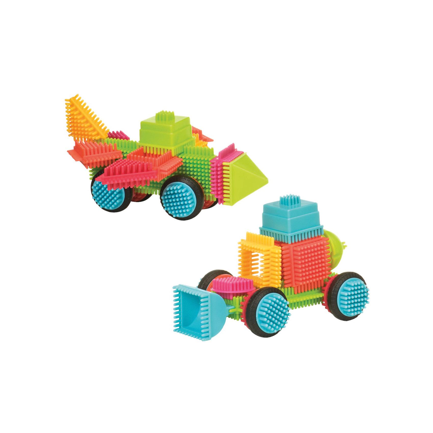 Конструктор игольчатый в чемоданчике, 50 деталей, Bristle BlocksКонструктор игольчатый в чемоданчике, 50 деталей, Bristle Blocks, Battat – оригинальный конструктор от канадского кампании Battat. Оригинальность конструктора заключается в его форме: все элементы имеют игольчатую поверхность. Так называемые, иголки абсолютно безопасны, они имеют закругленную форму. Кроме того, иголки являются способом закрепления деталей конструктора между собой. Набор выполнен из экологически безопасного пластика, окрашенного в яркие цвета, предназначен для детей от 2-х лет. Все элементы конструктора устойчивы к механическим повреждениям и изменению цвета.<br>Конструктор игольчатый в чемоданчике, 50 деталей, Bristle Blocks, Battat состоит 50 разноцветных элементов, которые позволяют конструировать различные предметы, строения и фигуры. В комплекте имеются квадратные, треугольные, прямоугольные и круглые элементы. В комплекте имеется инструкция по сборке конструктора. Конструктор упакован в пластиковый чемоданчик. <br>Конструктор игольчатый в чемоданчике, 50 деталей, Bristle Blocks, Battat способствует развитию координации движений, пространственному и логическому мышлению. Благодаря особенной форме конструктора, в процессе игры массируются подушечки пальчиков, что способствует развитию их чувствительности.<br><br>Дополнительная информация:<br><br>- Вид игр: конструирование<br>- Предназначение: для дома, для детского сада<br>- Материал: пластик в сочетании с латексом<br>- Комплектация: 50 элементов, пластиковый чемоданчик, буклет-инструкция<br>- Размеры (Д*Ш*В): 24,1*10,5*21 см<br>- Вес всего набора: 1 кг 500 г<br>- Пол: для мальчиков/для девочек<br>- Особенности ухода: можно мыть в теплой мыльной воде<br><br>Подробнее:<br><br>• Для детей в возрасте: от 2 лет <br>• Страна производитель: Китай<br>• Торговый бренд: B DOT<br><br>Конструктор игольчатый в чемоданчике, 50 деталей, Bristle Blocks, Battat  можно купить в нашем интернет-магазине.<br><br>Ширина мм: 24<br>Глубина мм: 21<br>Высота
