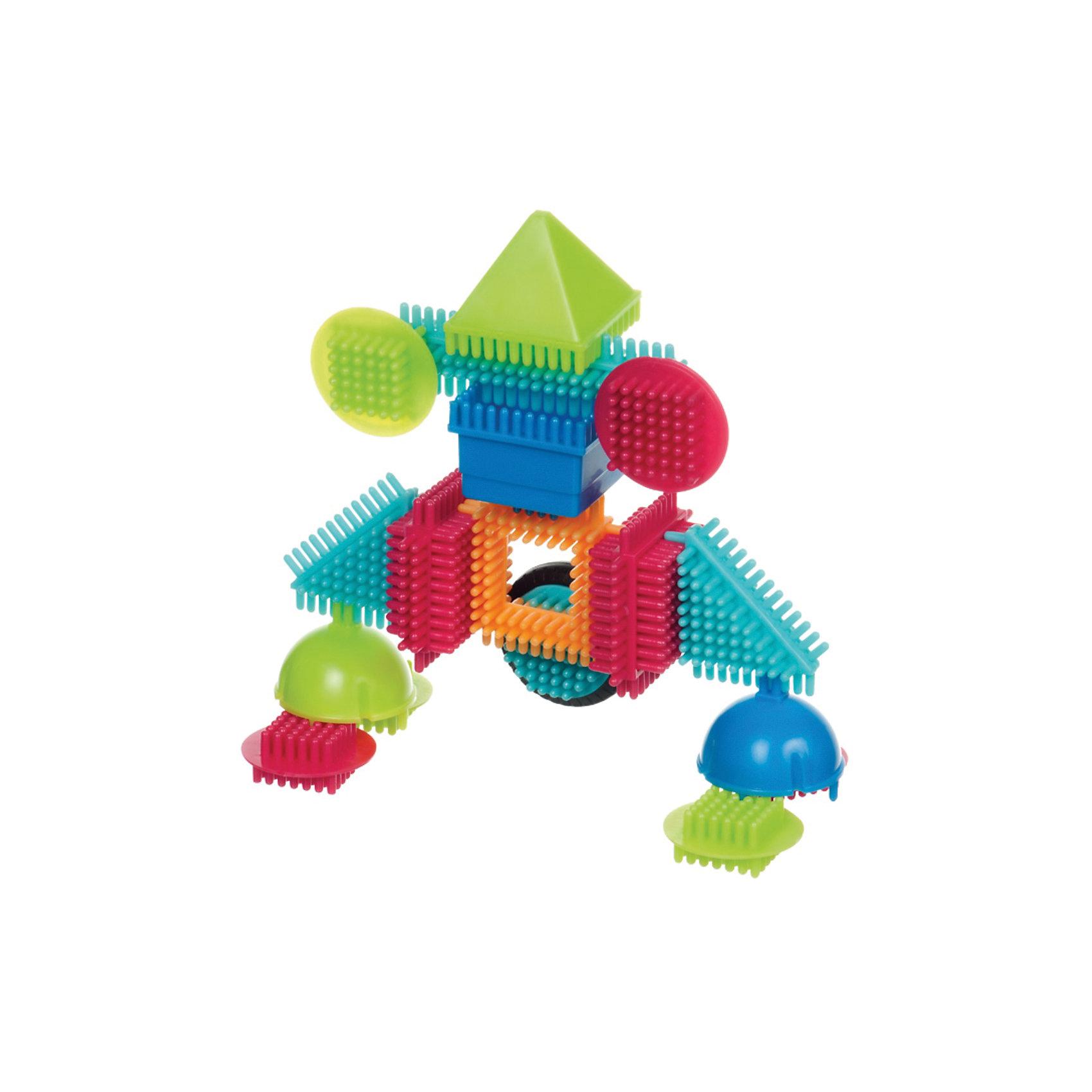 Конструктор игольчатый в коробке , 112 деталей, Bristle BlocksКонструктор игольчатый в коробке, 112 деталей, Bristle Blocks, Battat – оригинальный конструктор от канадского кампании Battat. Оригинальность конструктора заключается в его форме: все элементы имеют игольчатую поверхность. Так называемые, иголки абсолютно безопасны, они имеют закругленную форму. Кроме того, иголки являются способом закрепления деталей конструктора между собой. Набор выполнен из экологически безопасного пластика, окрашенного в яркие цвета, предназначен для детей от 2-х лет. Все элементы конструктора устойчивы к механическим повреждениям и изменению цвета.<br>Конструктор игольчатый в коробке, 112 деталей, Bristle Blocks, Battat состоит 112 разноцветных элементов, которые позволяют конструировать различные предметы, строения и фигуры. В комплекте имеются квадратные, треугольные, прямоугольные и круглые элементы, а также 9 фигурок. В комплекте имеется инструкция по сборке конструктора. Конструктор упакован в картонную коробку. <br>Конструктор игольчатый в коробке, 112 деталей, Bristle Blocks, Battat способствует развитию координации движений, пространственному и логическому мышлению. Благодаря особенной форме конструктора, в процессе игры массируются подушечки пальчиков, что способствует развитию их чувствительности.<br><br>Дополнительная информация:<br><br>- Вид игр: конструирование<br>- Предназначение: для дома, для детского сада<br>- Материал: пластик в сочетании с латексом<br>- Комплектация: 112 элементов, буклет-инструкция<br>- Размеры (Д*Ш*В): 35,5*7,5*31,5 см<br>- Вес всего набора: 1 кг 210 г<br>- Пол: для мальчиков/для девочек<br>- Особенности ухода: можно мыть в теплой мыльной воде<br><br>Подробнее:<br><br>• Для детей в возрасте: от 2 лет <br>• Страна производитель: Китай<br>• Торговый бренд: B DOT<br><br>Конструктор игольчатый в коробке, 112 деталей, Bristle Blocks, Battat  можно купить в нашем интернет-магазине.<br><br>Ширина мм: 31<br>Глубина мм: 35<br>Высота мм: 7<br>Вес г: 1400