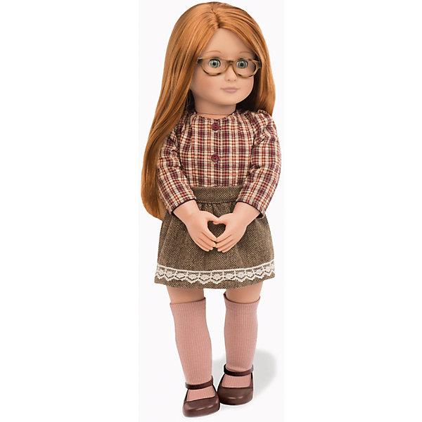 Кукла Эйприл, 46 см, Our Generation DollsКуклы<br>Кукла Эйприл, 46 см, Our Generation Dolls (Куклы нашего поколения) ? канадская торговая марка компании Battat, которая выпускает экологически безопасных кукол и аксессуары к ним. Куклы данного производителя отличаются выразительными взглядами, мягкими чертами лица. У них подвижные все части тела, глаза закрываются.<br>Эйприл – сероглазая шатенка с длинными рыжими волосами. Наряд у Эйприл отвечает последним тенденциям моды: клетчатая блузка, застегивающаяся на пуговицы, буклированная коричневая юбка с отделкой из белого кружева, гольфы и коричневые туфли.  Эйприл носит очки в роговой оправе. Длинные волосы куклы позволяют ей делать разнообразные прически.<br>Кукла Эйприл, 46 см, Our Generation Dolls (Куклы нашего поколения) упакована в картонную коробку. Сюжетно-ролевые игры с куклами обучают девочку быть заботливой и внимательной к близким. Одежда куклы воспитывает чувство стиля, учит сочетать вещи разных цветов и фактур в одном комплекте.<br><br>Дополнительная информация:<br><br>- Вид игр: сюжетно-ролевые<br>- Предназначение: для дома<br>- Материал: пластик, текстиль<br>- Высота куклы: 46 см<br>- Вес: 1 кг <br>- Особенности ухода: разрешается мыть в теплой мыльной воде<br><br>Подробнее:<br><br>• Для детей в возрасте: от 3 лет<br>• Страна производитель: Китай<br>• Торговый бренд: Our Generation Dolls<br><br>Куклу Эйприл, 46 см, Our Generation Dolls (Куклы нашего поколения) можно купить в нашем интернет-магазине.<br><br>Ширина мм: 27<br>Глубина мм: 13<br>Высота мм: 51<br>Вес г: 1500<br>Возраст от месяцев: 36<br>Возраст до месяцев: 2147483647<br>Пол: Унисекс<br>Возраст: Детский<br>SKU: 4871814