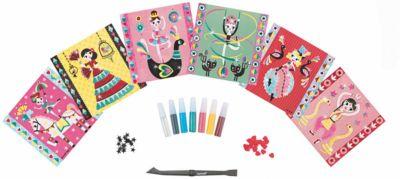Janod Набор для творчества: посыпаем блестками Балерина , 6 карточек