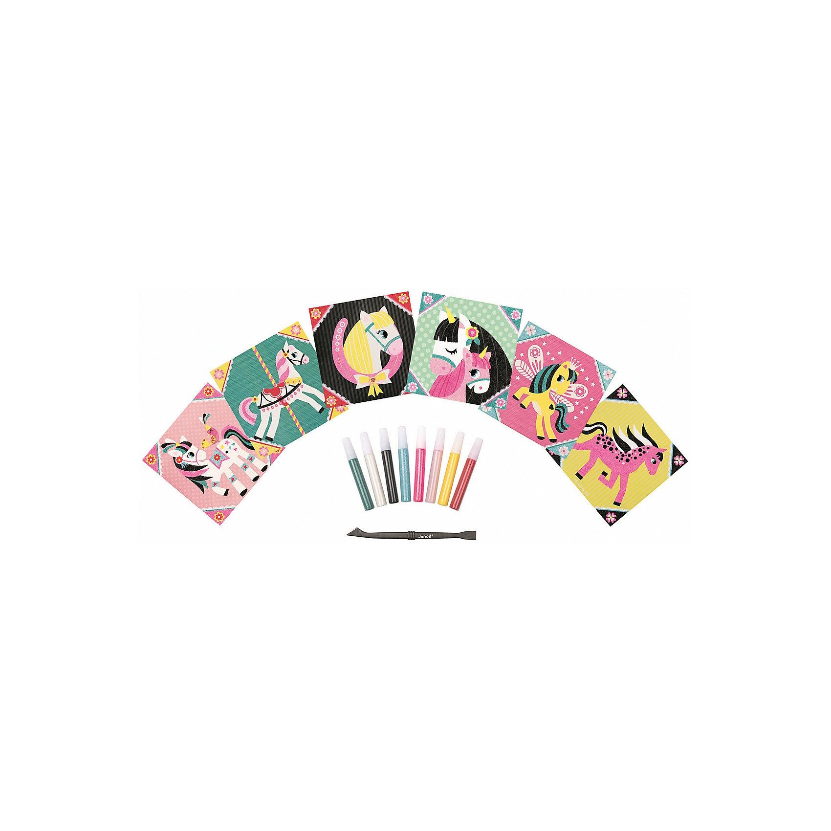 Набор для творчества: посыпаем песком Моя лошадка, 6 карточекПесочные картинки<br>Набор для творчества: посыпаем песком Моя лошадка, 6 карточек<br>6 цветных заготовок - картинок с липким слоем, 8 тюбиков с цветным песком, 1 инструмент для работы, 1  удобный чемоданчик для хранения.<br>Цветной буклет - инструкция на русском языке входит в состав всех наборов для творчества<br><br>Ширина мм: 26<br>Глубина мм: 21<br>Высота мм: 4<br>Вес г: 600<br>Возраст от месяцев: 48<br>Возраст до месяцев: 2147483647<br>Пол: Унисекс<br>Возраст: Детский<br>SKU: 4871832