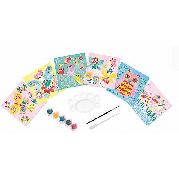 Набор для творчества: рисуем водой. Феи, 6 карточекКартины из песка<br>Набор для творчества: рисуем водой Феи, 6 карточек, Janod (Джанод)<br><br>Характеристики:<br><br>• можно создать новые цвета<br>• полностью безопасен для детей<br>• удобно хранить<br>• в комплекте: краски, палитра, кисточка, пипетка, чемоданчик, карточки<br>• размер упаковки: 26х4 22 см<br>• вес: 700 грамм<br><br>Набор Феи предназначен для веселого и интересного детского творчества. В набор входят 6 карточек, которые ребенку предстоит раскрасить водными красками. Подробная инструкция расскажет, как правильно смешивать и создавать новые цвета при помощи палитры и пипетки. Рисование развивает художественный вкус, аккуратность и усидчивость. Этот набор непременно понравится ребенку!<br><br>Набор для творчества: рисуем водой Феи, 6 карточек, Janod (Джанод) можно купить в нашем интернет-магазине.<br>Ширина мм: 26; Глубина мм: 21; Высота мм: 4; Вес г: 600; Возраст от месяцев: 48; Возраст до месяцев: 2147483647; Пол: Женский; Возраст: Детский; SKU: 4871834;