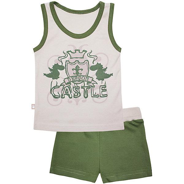 Пижама: майка и шорты для мальчика KotMarKotПижамы и сорочки<br>Пижама: майка и шорты для мальчика от известного бренда KotMarKot<br>Состав:<br>100% хлопок<br><br>Ширина мм: 281<br>Глубина мм: 70<br>Высота мм: 188<br>Вес г: 295<br>Цвет: зеленый<br>Возраст от месяцев: 96<br>Возраст до месяцев: 108<br>Пол: Мужской<br>Возраст: Детский<br>Размер: 134,116,110,104,128,122<br>SKU: 4873238