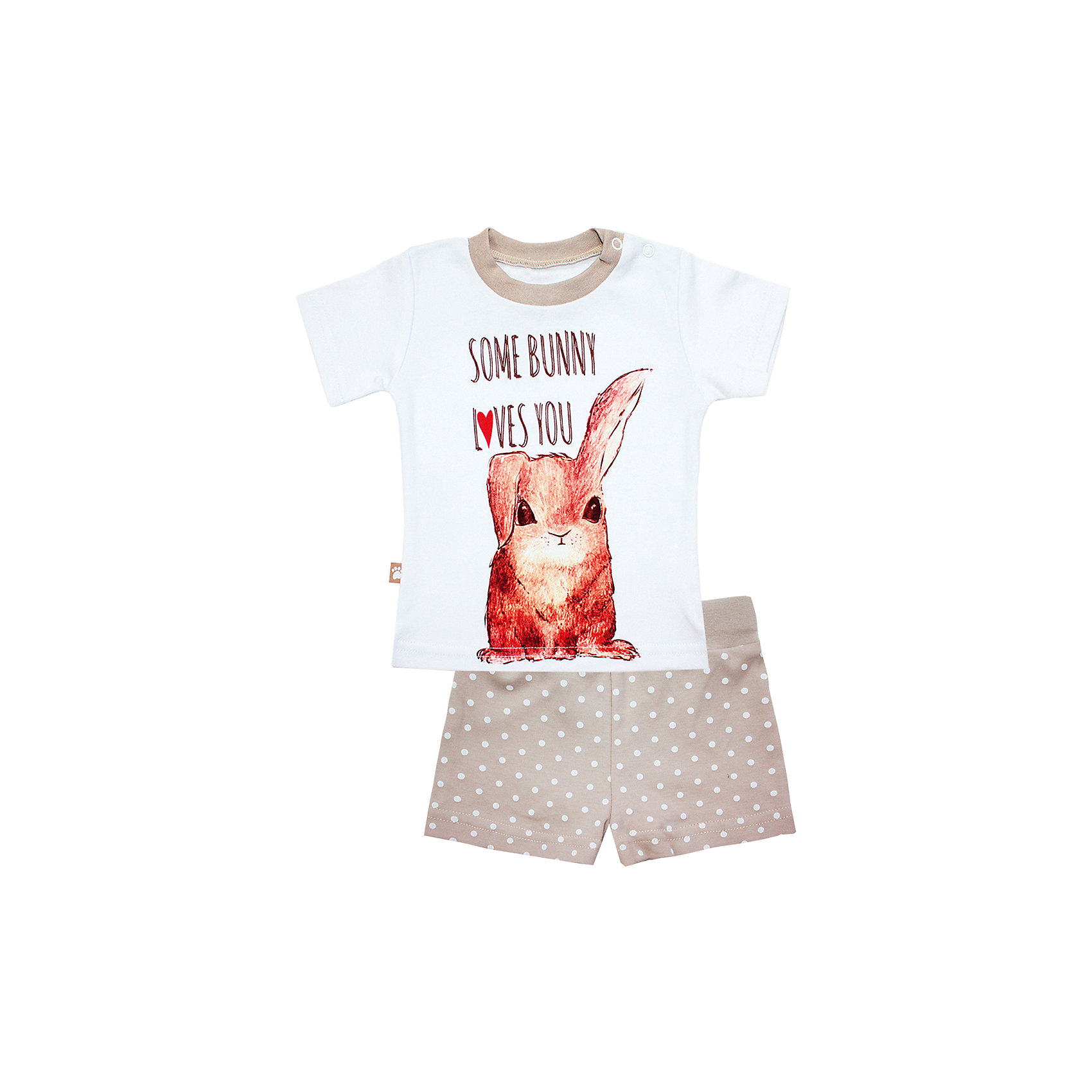 Пижама: футболка и шорты для девочки КотМарКотПижамы и сорочки<br>Пижама: футболка и шорты для девочки от известного бренда КотМарКот<br>Состав:<br>100% хлопок<br><br>Ширина мм: 281<br>Глубина мм: 70<br>Высота мм: 188<br>Вес г: 295<br>Цвет: бежевый<br>Возраст от месяцев: 48<br>Возраст до месяцев: 60<br>Пол: Женский<br>Возраст: Детский<br>Размер: 110,116,92,122,98,104<br>SKU: 4873281