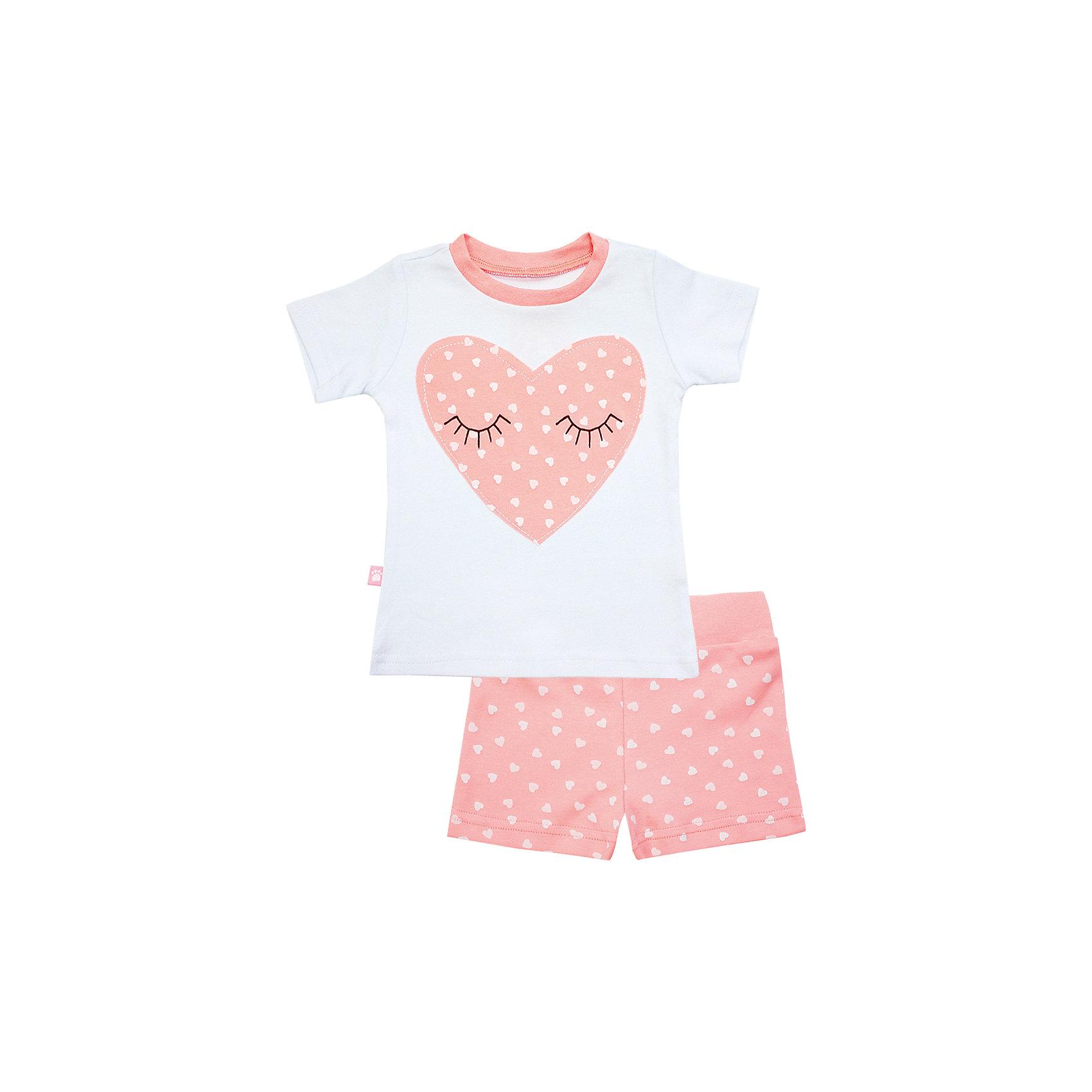 Пижама: футболка и шорты для девочки KotMarKotПижамы и сорочки<br>Пижама: футболка и шорты для девочки от известного бренда KotMarKot<br>Состав:<br>100% хлопок<br><br>Ширина мм: 281<br>Глубина мм: 70<br>Высота мм: 188<br>Вес г: 295<br>Цвет: розовый<br>Возраст от месяцев: 48<br>Возраст до месяцев: 60<br>Пол: Женский<br>Возраст: Детский<br>Размер: 110,122,134,116,128,104<br>SKU: 4873288