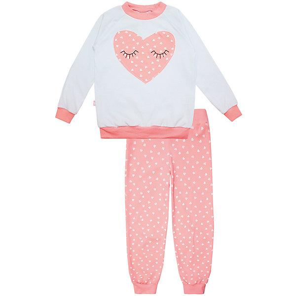 Пижама: футболка с длинным рукавом и штаны для девочки KotMarKotПижамы и сорочки<br>Пижама: футболка с длинным рукавом и штаны для девочки от известного бренда KotMarKot<br>Состав:<br>100% хлопок<br><br>Ширина мм: 281<br>Глубина мм: 70<br>Высота мм: 188<br>Вес г: 295<br>Цвет: розовый<br>Возраст от месяцев: 84<br>Возраст до месяцев: 96<br>Пол: Женский<br>Возраст: Детский<br>Размер: 128,134,110,116,104,122<br>SKU: 4873311