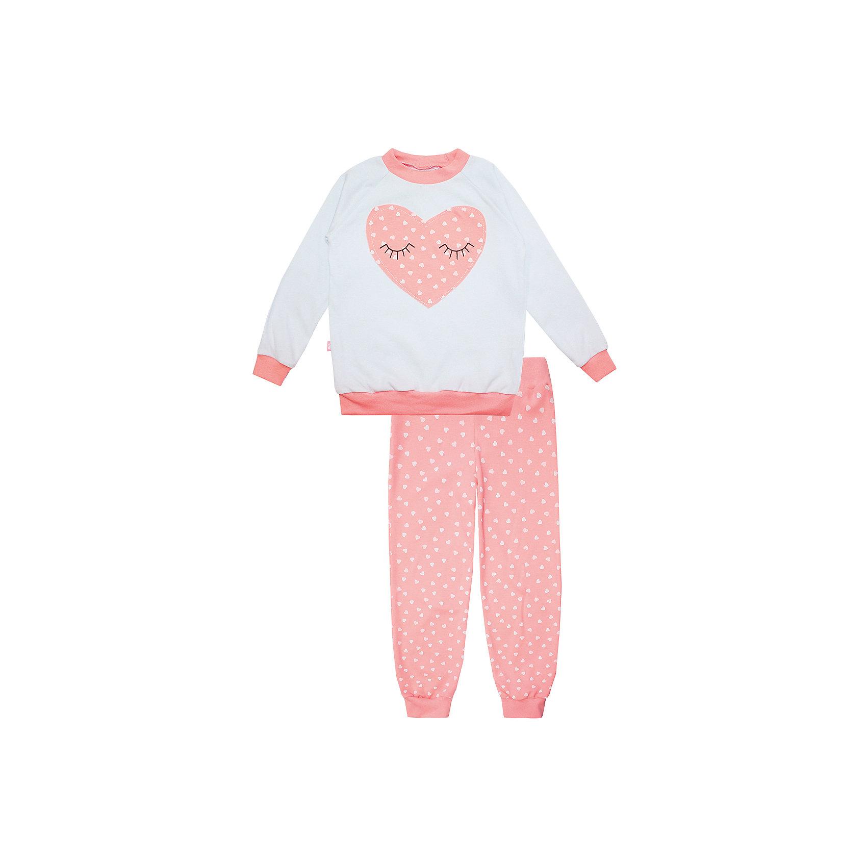 Пижама: футболка с длинным рукавом и штаны для девочки KotMarKotПижамы и сорочки<br>Пижама: футболка с длинным рукавом и штаны для девочки от известного бренда KotMarKot<br>Состав:<br>100% хлопок<br><br>Ширина мм: 281<br>Глубина мм: 70<br>Высота мм: 188<br>Вес г: 295<br>Цвет: розовый<br>Возраст от месяцев: 60<br>Возраст до месяцев: 72<br>Пол: Женский<br>Возраст: Детский<br>Размер: 116,110,128,134,122,104<br>SKU: 4873311