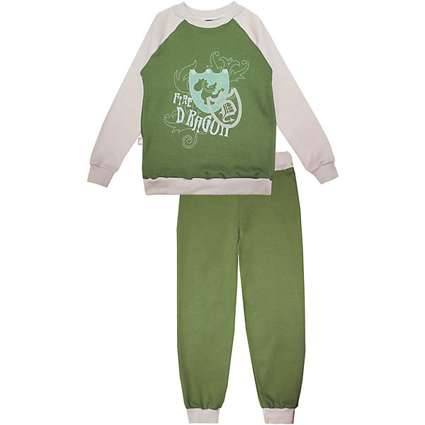 Пижама: футболка с длинным рукавом и штаны для мальчика KotMarKotПижамы и сорочки<br>Характеристики товара:<br><br>• цвет: зеленый<br>• комплектация: лонгслив и брюки<br>• состав ткани: 100% хлопок<br>• сезон: круглый год<br>• длинные рукава<br>• пояс: резинка<br>• страна бренда: Россия<br>• страна изготовитель: Россия<br><br>Эта детская пижама обеспечит ребенку комфорт во время сна. Пижама для ребенка сделана из мягкого и дышащего хлопка. Детская пижама комфортно сидит, не вызывает неудобств. Российский бренд KotMarKot - это стильный продуманный дизайн и неизменно высокое качество исполнения. <br><br>Пижаму: футболка с длинным рукавом и штаны KotMarKot (КотМарКот) для мальчика можно купить в нашем интернет-магазине.<br>Ширина мм: 281; Глубина мм: 70; Высота мм: 188; Вес г: 295; Цвет: зеленый; Возраст от месяцев: 72; Возраст до месяцев: 84; Пол: Мужской; Возраст: Детский; Размер: 110,122,134,116,104,128; SKU: 4873318;