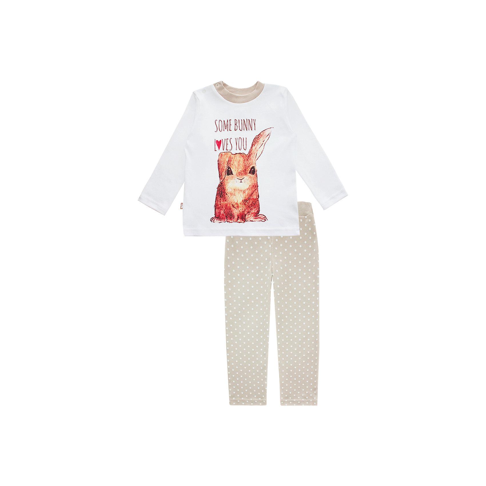 Пижама: футболка с длинным рукавом и штаны для девочки КотМарКотПижама: футболка с длинным рукавом и штаны для девочки от известного бренда КотМарКот<br>Состав:<br>100% хлопок<br><br>Ширина мм: 281<br>Глубина мм: 70<br>Высота мм: 188<br>Вес г: 295<br>Цвет: бежевый<br>Возраст от месяцев: 48<br>Возраст до месяцев: 60<br>Пол: Женский<br>Возраст: Детский<br>Размер: 110,134,128,92,122,116,104,98<br>SKU: 4873325