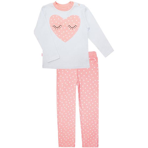 Пижама: футболка с длинным рукавом и штаны для девочки KotMarKotПижамы и сорочки<br>Пижама: футболка с длинным рукавом и штаны для девочки от известного бренда KotMarKot<br>Состав:<br>100% хлопок<br><br>Ширина мм: 281<br>Глубина мм: 70<br>Высота мм: 188<br>Вес г: 295<br>Цвет: розовый<br>Возраст от месяцев: 36<br>Возраст до месяцев: 48<br>Пол: Женский<br>Возраст: Детский<br>Размер: 104,116,134,122,110,128<br>SKU: 4873334