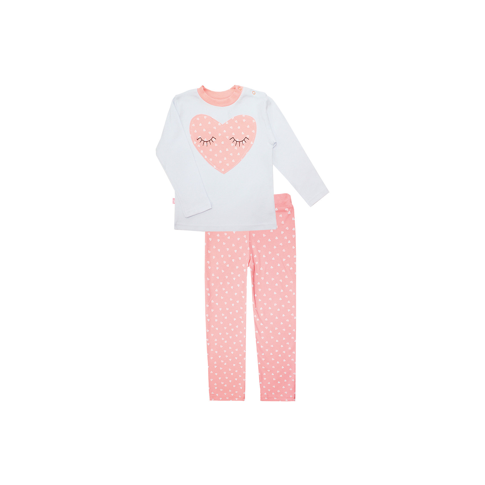 Пижама: футболка с длинным рукавом и штаны для девочки KotMarKotПижамы и сорочки<br>Пижама: футболка с длинным рукавом и штаны для девочки от известного бренда KotMarKot<br>Состав:<br>100% хлопок<br><br>Ширина мм: 281<br>Глубина мм: 70<br>Высота мм: 188<br>Вес г: 295<br>Цвет: розовый<br>Возраст от месяцев: 60<br>Возраст до месяцев: 72<br>Пол: Женский<br>Возраст: Детский<br>Размер: 116,134,128,110,122,104<br>SKU: 4873334