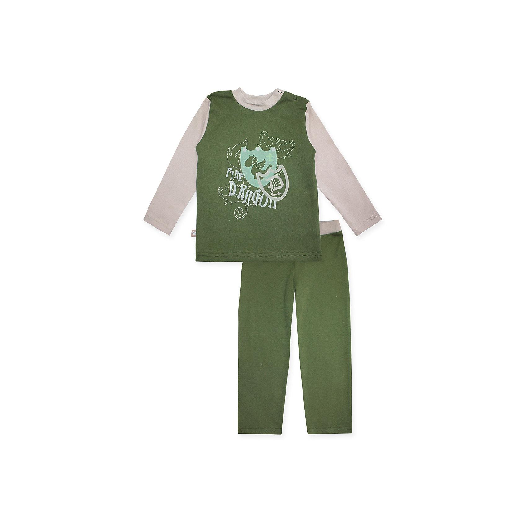 Пижама: футболка с длинным рукавом и штаны для мальчика KotMarKotПижамы и сорочки<br>Пижама: футболка с длинным рукавом и штаны для мальчика от известного бренда KotMarKot<br>Состав:<br>100% хлопок<br><br>Ширина мм: 281<br>Глубина мм: 70<br>Высота мм: 188<br>Вес г: 295<br>Цвет: зеленый<br>Возраст от месяцев: 72<br>Возраст до месяцев: 84<br>Пол: Мужской<br>Возраст: Детский<br>Размер: 110,116,134,104,128,122<br>SKU: 4873341