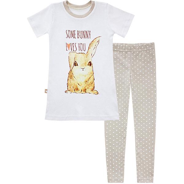 Купить со скидкой Пижама: туника и леггинсы для девочки KotMarKot