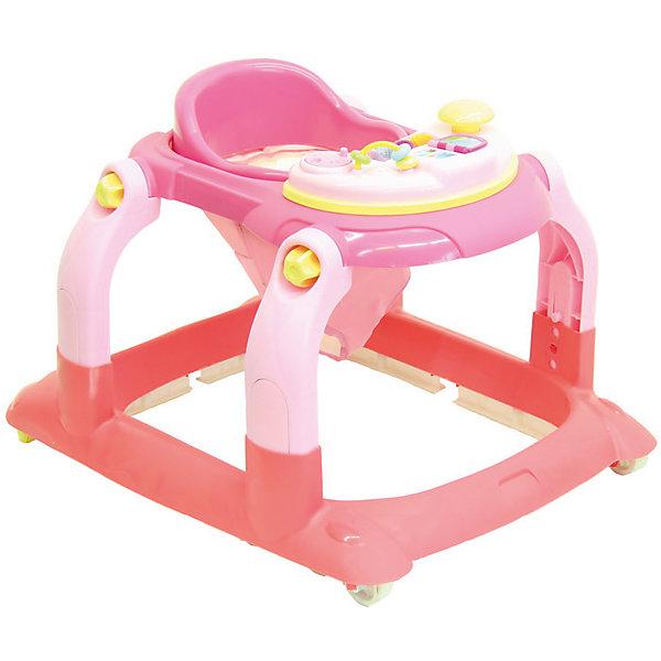 Ходунки BS-511, Selby, розовыйХодунки<br>Эти ходунки от Selby разработаны для малышей в возрасте от полугода, которые только учатся ходить. Конструкция с двумя парами колес, одна из которых - поворотная, обеспечивает ребенку удобство, как и комфортное сиденье. Его можно отрегулировать по росту ребенка. Удобная спинка помогает сформировать правильную осанку. <br>На переднем столике есть развлекательная панель разными с игрушками. Она снимается и используется отдельно от ходунков. Изделие легко моется. Легкий пластик отличается прочностью. Все материалы тщательно подобраны специалистами и безопасны для детей.<br><br>Дополнительная информация:<br><br>цвет: розовый;<br>возраст: от полугода;<br>материал: пластик;<br>габариты: 71 х 62 х 57 см;<br>вес: 2800 г;<br>облегченная рама из пластика;<br>четыре пластиковых колеса, два поворотные;<br>сиденье регулируется по высоте в 3 положениях.<br>чехлы съемные;<br>есть стопоры;<br>Игровая панель съемная;<br>складная конструкция.<br><br>Ходунки BS-511 от компании Selby можно купить в нашем магазине.<br><br>Ширина мм: 570<br>Глубина мм: 710<br>Высота мм: 620<br>Вес г: 4800<br>Возраст от месяцев: 6<br>Возраст до месяцев: 36<br>Пол: Женский<br>Возраст: Детский<br>SKU: 4873606