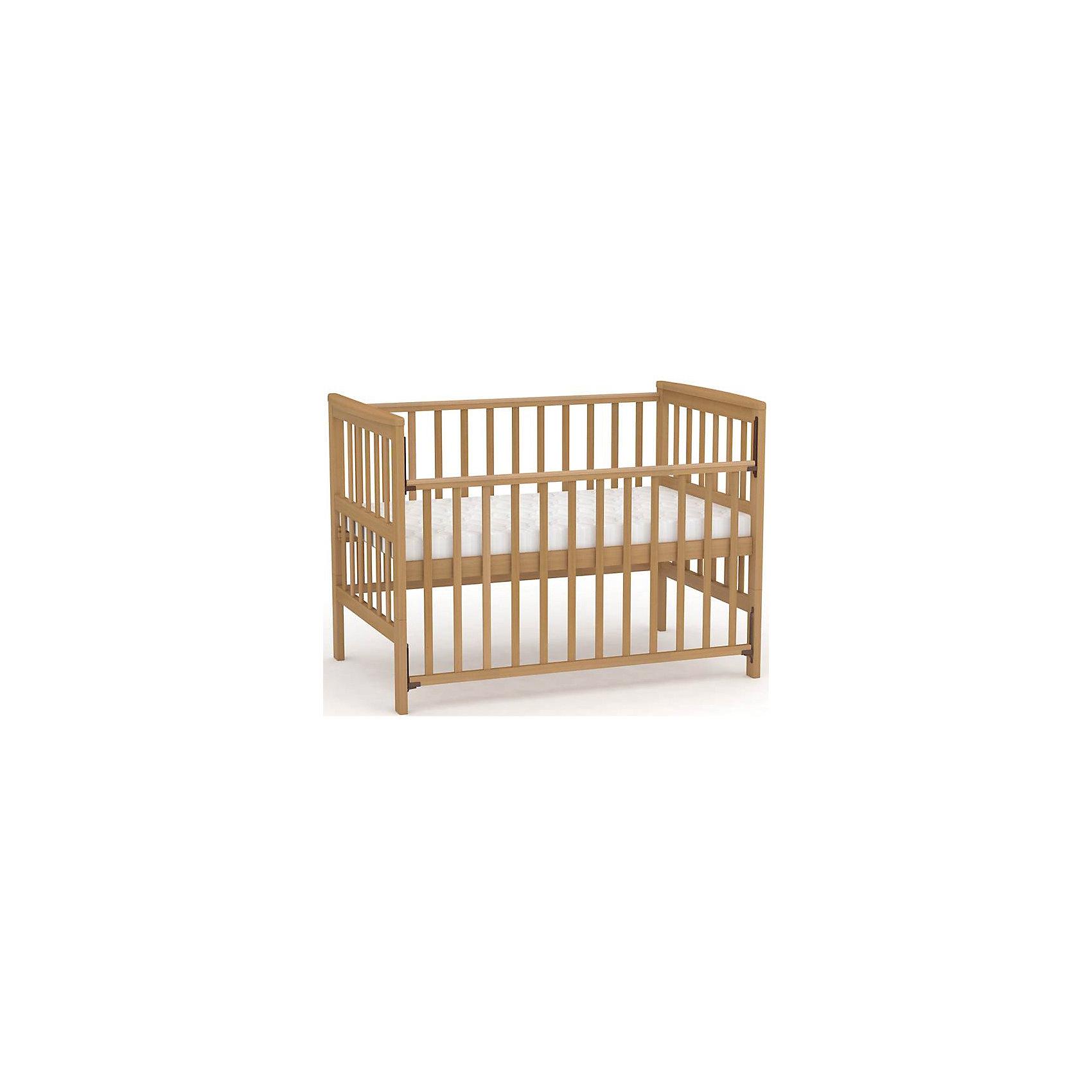 Детская кровать-трансформер 800, Фея, медовыйКроватки<br>Правильная детская мебель всегда отличается от взрослой, так как производится с учетом потребностей малышей. Данная кроватка обеспечит удобство и ребенку и маме - она имеет удобный механизм опускания передней планки и возможность трансформировать кроватку в более взрослую, сняв боковые стенки.<br>Кроватка сделана из качественного дерева, покрытого лаком. Цвет - универсальный, подойдет практически для любого интерьера. Все материалы тщательно подобраны специалистами и безопасны для детей.<br><br>Дополнительная информация:<br><br>цвет: дерево;<br>материал: массив березы, лак;<br>передняя планка удобно опускается;<br>ортопедическое основание;<br>ложе имеет 2 положения;<br>размер:  97,4 х 154,6 х 80 см ;<br>ложе: 70 на 140 см;<br>вес: 22 кг.<br><br>Детскую кровать-трансформер 800 торговой марки Фея можно купить в нашем магазине.<br><br>Ширина мм: 800<br>Глубина мм: 1546<br>Высота мм: 974<br>Вес г: 22000<br>Возраст от месяцев: 0<br>Возраст до месяцев: 36<br>Пол: Унисекс<br>Возраст: Детский<br>SKU: 4873622