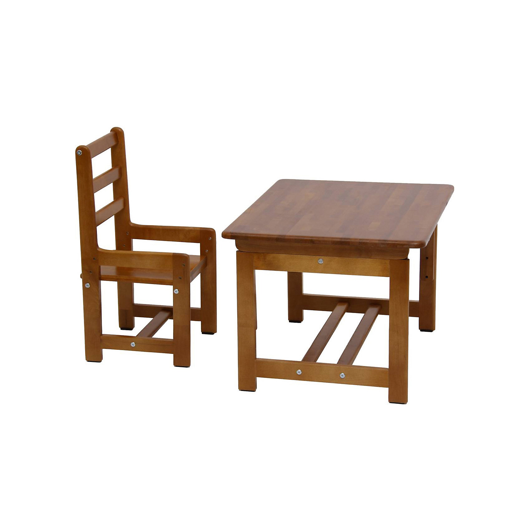 Комплект детской мебели Растем вместе, Фея, орехКачественная детская мебель всегда отличается от взрослой, так как производится с учетом строения тела малыша и того, что он быстро растет. Данный комплект состоит из стульчика и столика, размер которых можно менять и подстраивать под рост ребенка. Эту мебель можно использовать и для игр, и для кормления, и для обучения.<br>Предметы мебели сделаны из дерева, покрытого лаком. Угол наклона стола можно менять в зависимости от его назначения в данный момент. Все материалы тщательно подобраны специалистами и безопасны для детей.<br><br>Дополнительная информация:<br><br>цвет: орех;<br>материал: дерево;<br>размеры стола: 70 х 55 х 46 см (три уровня высоты: 46, 52, 58 см);<br>размеры стула: 330 х 34 х 64 см (три уровня высоты: 26, 30, 34 см);<br>вес набора: 5,2 кг.<br><br>Комплект детской мебели Растем вместе торговой марки Фея можно купить в нашем магазине.<br><br>Ширина мм: 644<br>Глубина мм: 470<br>Высота мм: 640<br>Вес г: 12300<br>Возраст от месяцев: 36<br>Возраст до месяцев: 120<br>Пол: Унисекс<br>Возраст: Детский<br>SKU: 4873623