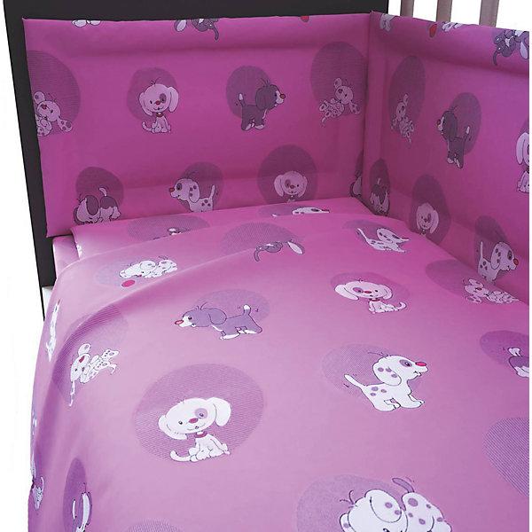 Постельное белье Наши друзья 3 пред., Фея, розовыйПостельное белье в кроватку новорождённого<br>Лучшее постельное белье для детей делается из натуральных материалов. Этот комплект, состоящий  из наволочки, простыни и пододеяльника, сшит из хлопка, гипоаллергенного, приятного на ощупь и позволяющего коже дышать.<br>Все предметы из набора - стандартных размеров, отлично подойдут к обычной подушке, матрасу и одеялу. Простыня - на резинке, это поможет обеспечить малышу комфорт на всю ночь. Комплект украшен принтом с щенками - на нем малышу будет приятно засыпать! Симпатичная расцветка комплекта отлично подойдет к интерьеру детской.<br><br>Дополнительная информация:<br><br>цвет: розовый, принт;<br>материал: 100% хлопок;<br>наволочка: 40 х 60 см,<br>простыня на резинке: 120 х 60 см,<br>пододеяльник: 110 х 140 см.<br><br>Постельное белье Наши друзья 3 пред., торговой марки Фея можно купить в нашем магазине.<br><br>Ширина мм: 500<br>Глубина мм: 600<br>Высота мм: 100<br>Вес г: 700<br>Возраст от месяцев: 0<br>Возраст до месяцев: 36<br>Пол: Женский<br>Возраст: Детский<br>SKU: 4873634