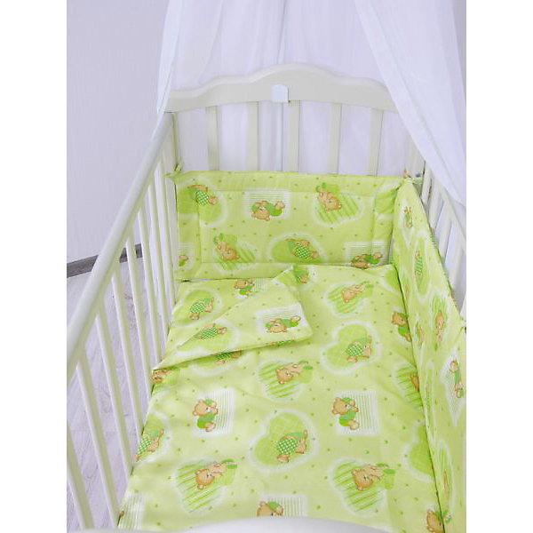 Простыня на резинке Мишки, Фея, зеленыйПостельное белье в кроватку новорождённого<br>Качественное постельное белье для детей делается из натуральных материалов. Эта простынка сшита из хлопка, гипоаллергенного, приятного на ощупь и позволяющего коже дышать. Он легко стирается и гладится.<br>Простынка - стандартного размера, отлично подойдет к обычному матрасу. Она на резинке, это поможет обеспечить малышу комфорт на всю ночь. Изделие украшено принтом с мишками - на нем малышу будет приятно засыпать! Симпатичная расцветка отлично подойдет к интерьеру детской.<br><br>Дополнительная информация:<br><br>цвет: зеленый, принт;<br>материал: 100% хлопок;<br>на резинке;<br>для матраса размером 120 х 60 см.<br><br>Простыню на резинке Мишки торговой марки Фея можно купить в нашем магазине.<br>Ширина мм: 500; Глубина мм: 600; Высота мм: 100; Вес г: 190; Возраст от месяцев: 0; Возраст до месяцев: 36; Пол: Унисекс; Возраст: Детский; SKU: 4873641;