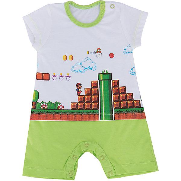 Песочник для мальчика GoldyПесочники<br>Песочник для мальчика от известного бренда Goldy.<br>Песочник с весёлым принтом. Пошив имитирует костюм из футболки и шорт.<br>Состав:<br>100% хлопок<br>Ширина мм: 157; Глубина мм: 13; Высота мм: 119; Вес г: 200; Цвет: зеленый; Возраст от месяцев: 12; Возраст до месяцев: 18; Пол: Мужской; Возраст: Детский; Размер: 86,80,74,68,62; SKU: 4873731;