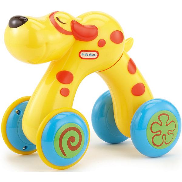 Домашний питомец Собака, Little TikesКаталки и качалки<br>Домашний питомец от Литл Тайкс - это развивающая инерционная игрушка в виде собаки. Веселые зверьки на колесиках могут передвигаться! При нажатии на спинку игрушка растягивается. Если спинку отпустить, она возвращается в первоначальное положение, при этом двигаясь вперед. Такая игрушка способствует развитию зрительно-моторной координации.<br><br>Дополнительная информация:<br><br>Собачка желтого цвета, с оранжевыми полосками.<br><br>Игрушку Домашний питомец , Little Tikes (Литл Тайкс), можно купить в нашем магазине.<br>Ширина мм: 190; Глубина мм: 200; Высота мм: 125; Вес г: 407; Возраст от месяцев: 36; Возраст до месяцев: 72; Пол: Унисекс; Возраст: Детский; SKU: 4874113;