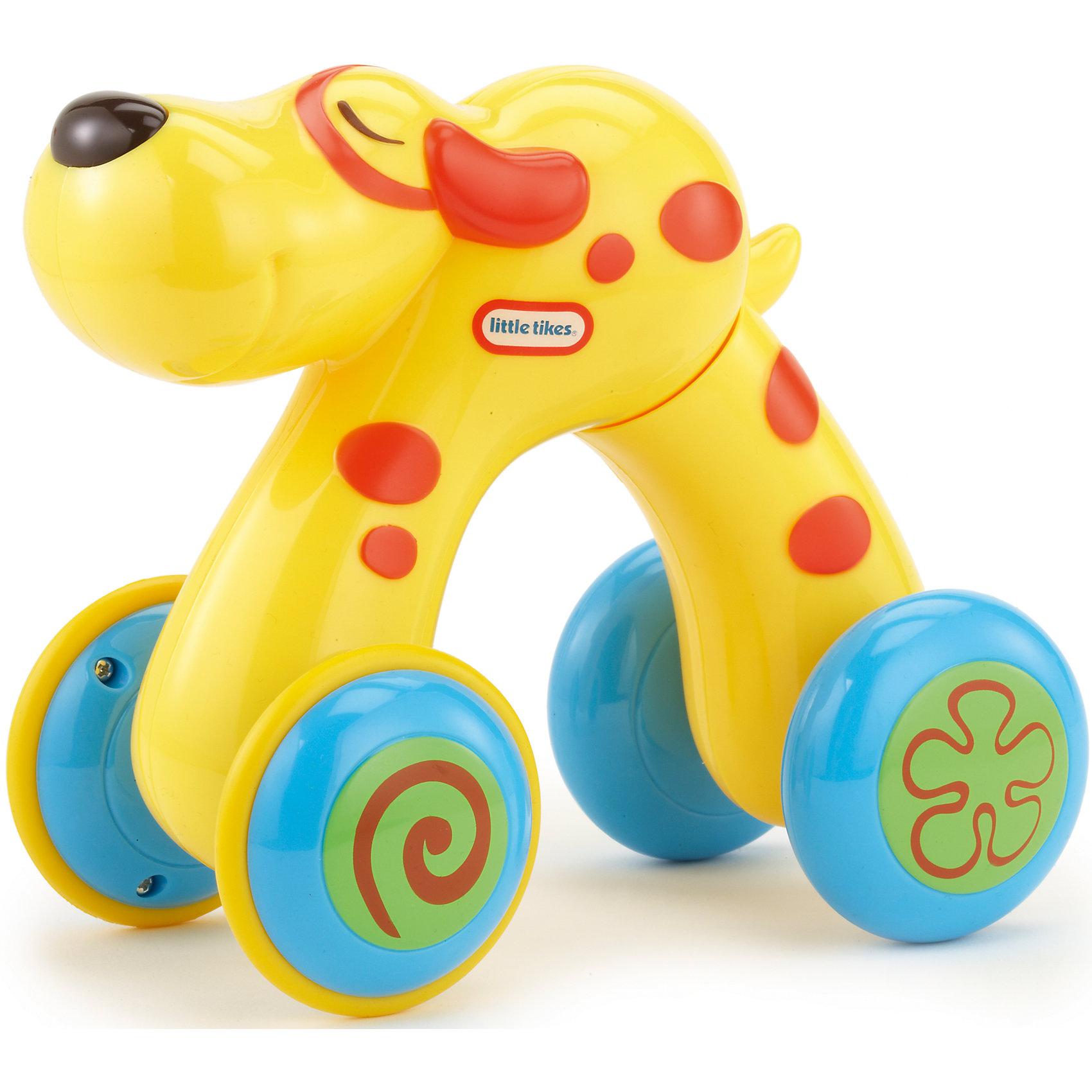 Домашний питомец Собака, Little TikesИгрушки-каталки<br>Домашний питомец от Литл Тайкс - это развивающая инерционная игрушка в виде собаки. Веселые зверьки на колесиках могут передвигаться! При нажатии на спинку игрушка растягивается. Если спинку отпустить, она возвращается в первоначальное положение, при этом двигаясь вперед. Такая игрушка способствует развитию зрительно-моторной координации.<br><br>Дополнительная информация:<br><br>Собачка желтого цвета, с оранжевыми полосками.<br><br>Игрушку Домашний питомец , Little Tikes (Литл Тайкс), можно купить в нашем магазине.<br><br>Ширина мм: 190<br>Глубина мм: 200<br>Высота мм: 125<br>Вес г: 407<br>Возраст от месяцев: 36<br>Возраст до месяцев: 72<br>Пол: Унисекс<br>Возраст: Детский<br>SKU: 4874113