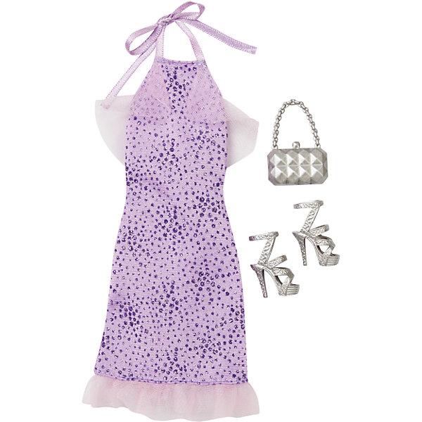 Комплект одежды, BarbieОдежда для кукол<br>Комплект одежды, Barbie, станет прекрасным подарком для всех юных обладательниц кукол Барби. В ассортименте представлена серия шикарных праздничных нарядов, которые сделают Вашу куколку еще более ослепительной. Здесь есть роскошные платья и стильные пальто, а к ним - подходящие элегантные туфли и сумочка. Все модели выполнены по мотивам реальных модных тенденций. Современные силуэты, красивые ткани, эффектные расцветки будут по достоинству оценены юной модницей. Предметы из разных комплектов можно комбинировать, создавая новые шикарные образы для любимой куклы. Одежда подходит большинству кукол Барби. Кукла в комплект не входит, продается отдельно!<br><br>Дополнительная информация:<br><br>- В комплекте: один предмет одежды (платье или пальто), пара туфель, сумочка.<br>- Кукла продается отдельно!<br>- Материал: текстиль, пластик.<br>- Размер упаковки: 12 х 2 х 25 см.<br><br>Комплект одежды, Barbie, можно купить в нашем интернет-магазине.<br><br>Ширина мм: 257<br>Глубина мм: 119<br>Высота мм: 12<br>Вес г: 30<br>Возраст от месяцев: 36<br>Возраст до месяцев: 96<br>Пол: Женский<br>Возраст: Детский<br>SKU: 4874125