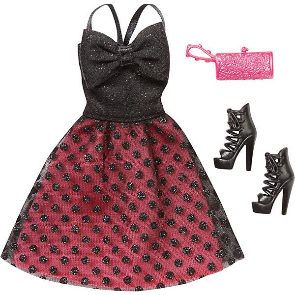 Комплект одежды, BarbieОдежда для кукол<br>Комплект одежды, Barbie, станет прекрасным подарком для всех юных обладательниц кукол Барби. В ассортименте представлена серия шикарных праздничных нарядов, которые сделают Вашу куколку еще более ослепительной. Здесь есть роскошные платья и стильные пальто, а к ним - подходящие элегантные туфли и сумочка. Все модели выполнены по мотивам реальных модных тенденций. Современные силуэты, красивые ткани, эффектные расцветки будут по достоинству оценены юной модницей. Предметы из разных комплектов можно комбинировать, создавая новые шикарные образы для любимой куклы. Одежда подходит большинству кукол Барби. Кукла в комплект не входит, продается отдельно!<br><br>Дополнительная информация:<br><br>- В комплекте: один предмет одежды (платье или пальто), пара туфель, сумочка.<br>- Кукла продается отдельно!<br>- Материал: текстиль, пластик.<br>- Размер упаковки: 12 х 2 х 25 см.<br><br>Комплект одежды, Barbie, можно купить в нашем интернет-магазине.<br><br>Ширина мм: 257<br>Глубина мм: 119<br>Высота мм: 12<br>Вес г: 30<br>Возраст от месяцев: 36<br>Возраст до месяцев: 96<br>Пол: Женский<br>Возраст: Детский<br>SKU: 4874126