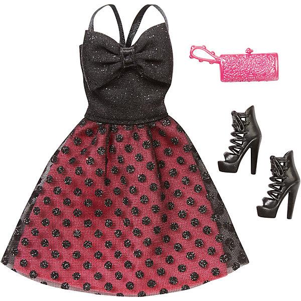 Комплект одежды, BarbieОдежда для кукол<br>Комплект одежды, Barbie, станет прекрасным подарком для всех юных обладательниц кукол Барби. В ассортименте представлена серия шикарных праздничных нарядов, которые сделают Вашу куколку еще более ослепительной. Здесь есть роскошные платья и стильные пальто, а к ним - подходящие элегантные туфли и сумочка. Все модели выполнены по мотивам реальных модных тенденций. Современные силуэты, красивые ткани, эффектные расцветки будут по достоинству оценены юной модницей. Предметы из разных комплектов можно комбинировать, создавая новые шикарные образы для любимой куклы. Одежда подходит большинству кукол Барби. Кукла в комплект не входит, продается отдельно!<br><br>Дополнительная информация:<br><br>- В комплекте: один предмет одежды (платье или пальто), пара туфель, сумочка.<br>- Кукла продается отдельно!<br>- Материал: текстиль, пластик.<br>- Размер упаковки: 12 х 2 х 25 см.<br><br>Комплект одежды, Barbie, можно купить в нашем интернет-магазине.<br><br>Ширина мм: 257<br>Глубина мм: 119<br>Высота мм: 12<br>Вес г: 30<br>Возраст от месяцев: 36<br>Возраст до месяцев: 96<br>Пол: Женский<br>Возраст: Детский<br>SKU: 4874128