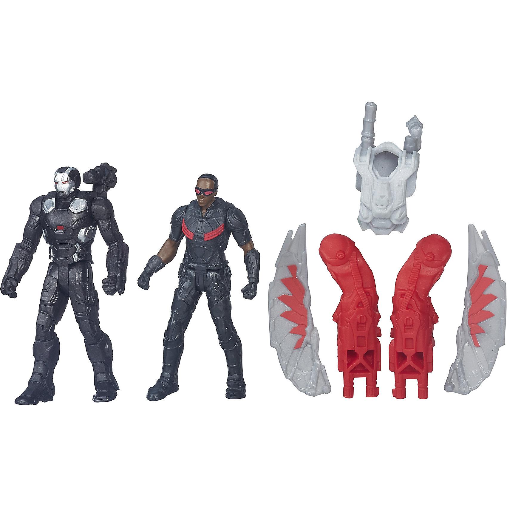 Набор из 2 фигурок Мстителей Falcon vs War MachineКоллекционные и игровые фигурки<br>Набор из 2 фигурок Мстителей Falcon vs War Machine.<br><br>Характеристики:<br><br>- В комплекте: 2 фигурки, броня, крылья<br>- Высота фигурки: 6 см.<br>- Материал: высококачественный пластик<br>- Размер упаковки: 16x14x4 см.<br><br>Игровой набор из фигурок от Hasbro вызовет настоящий восторг у юного поклонника знаменитой вселенной Marvel. Фигурки изготовлены из высококачественного прочного пластика и выполнены в виде Сокола и Воителя. В комплекте с фигурками идут дополнительные аксессуары: элементы бронекостюма и крылья Сокола. Игрушечные персонажи максимально соответствует своим прототипам с учетом особенностей образа каждого героя. Фигурки имеют по пять точек артикуляции, что позволяет придавать им необходимое положение во время игры. Имея в игровом арсенале этих персонажей, ребенок сможет разыграть множество увлекательнейших сюжетов. В них в очередной раз развернется отчаянная борьба за мир, и смелые герои вновь спасут его благодаря своей силе, ловкости и находчивости! Совместимо с Башней Мстителей.<br><br>Набор из 2 фигурок Мстителей Falcon vs War Machine можно купить в нашем интернет-магазине.<br><br>Ширина мм: 44<br>Глубина мм: 140<br>Высота мм: 159<br>Вес г: 50<br>Возраст от месяцев: 48<br>Возраст до месяцев: 144<br>Пол: Мужской<br>Возраст: Детский<br>SKU: 4874297