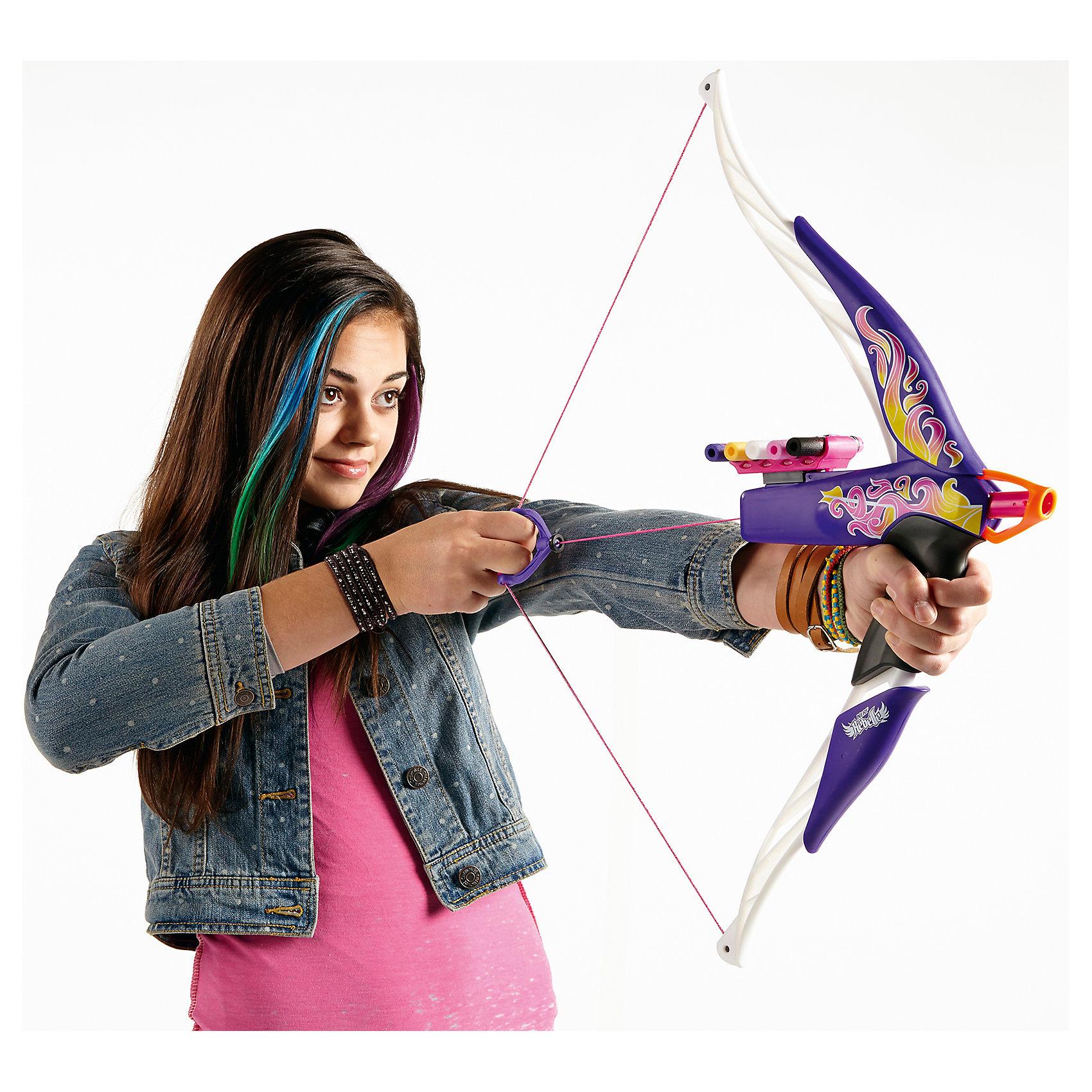 Лук Разбитое сердце, N-RebelleИдеи подарков<br>Лук Разбитое сердце, Nerf Rebelle  - оригинальное элегантное оружие для девочек. Лук для стрельбы выполнен в привлекательном стильном дизайне и декорирован изысканными узорами. В верхней части лука расположен специальный удобный отсек, вмещающий в себя пять стрел и позволяющий не отвлекаться во время игры на их поиск .<br>В комплект также входят 5 безопасных стрел, выполненных в виде патрона от бластера. Лук имеет регулируемый прицел и стреляет на расстояние более 20 метров. Игрушка способствует развитию меткости, ловкости, координации движений и сноровки.<br><br>Дополнительная информация:<br><br>- В комплекте: лук, 5 стрел.<br>- Материал: пластик, вспененный полимер.<br>- Размер лука: 62 х 29 х 4 см.<br>- Длина стрелы: 7,5 см.<br>- Размер упаковки: 63 х 30 х 6 см.<br>- Вес: 0,8 кг.<br><br>Лук Разбитое сердце, Nerf Rebelle (Нерф) можно купить в нашем интернет-магазине.<br><br>Ширина мм: 637<br>Глубина мм: 299<br>Высота мм: 63<br>Вес г: 615<br>Возраст от месяцев: 96<br>Возраст до месяцев: 144<br>Пол: Женский<br>Возраст: Детский<br>SKU: 4874319