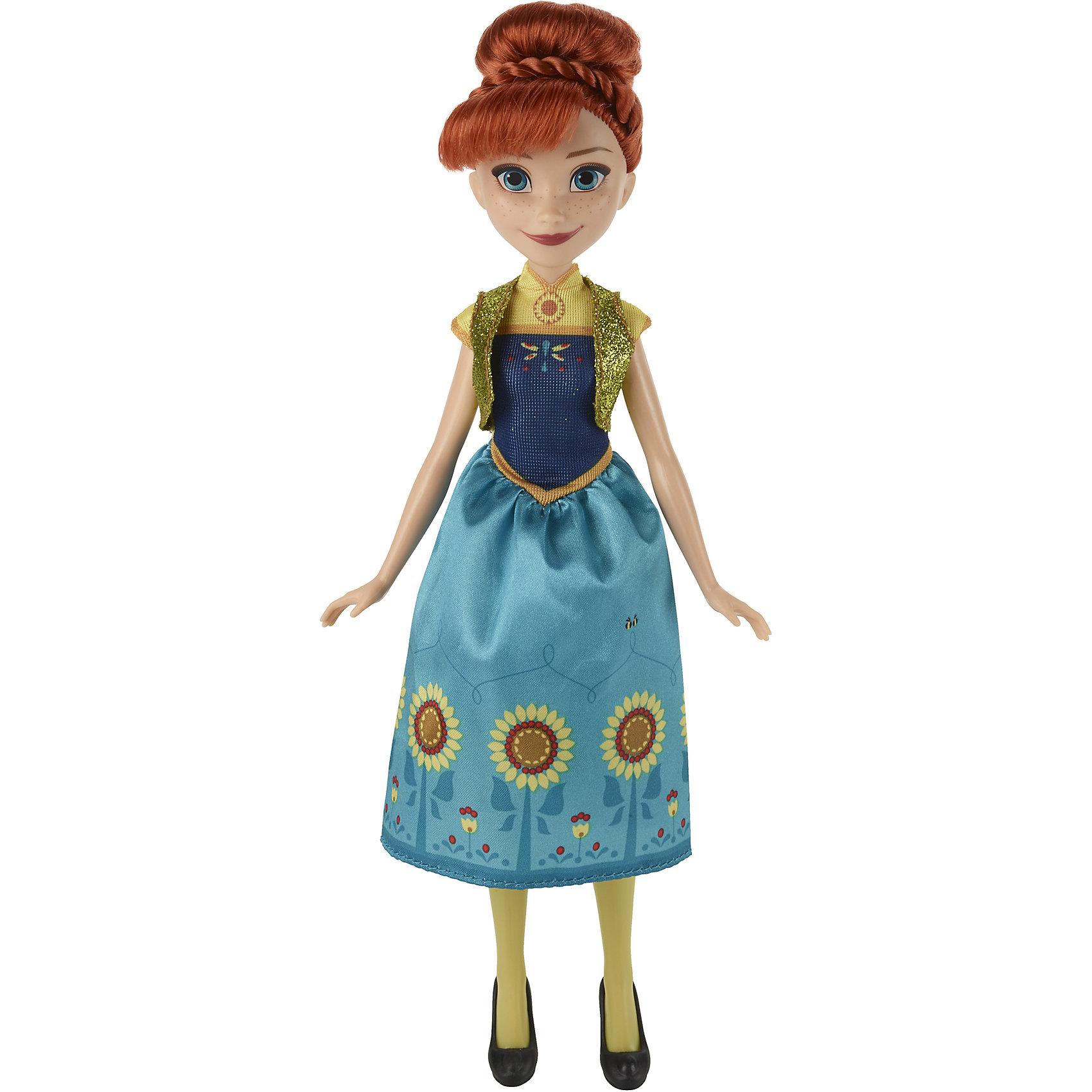 Кукла Холодное СердцеПопулярные игрушки<br>Куклы по минимальной цене. Эльза высотой 28см и Анна высотой 26см одеты в детализированные  наряды из короткометражки  Frozen Fever (Холодное торжество).У каждой куклы 5 точек артикуляции, наряды, которые можно снимать и надевать, обувь и уникальный аксессуар для волос.<br><br>Ширина мм: 51<br>Глубина мм: 152<br>Высота мм: 356<br>Вес г: 156<br>Возраст от месяцев: 36<br>Возраст до месяцев: 144<br>Пол: Женский<br>Возраст: Детский<br>SKU: 4874326