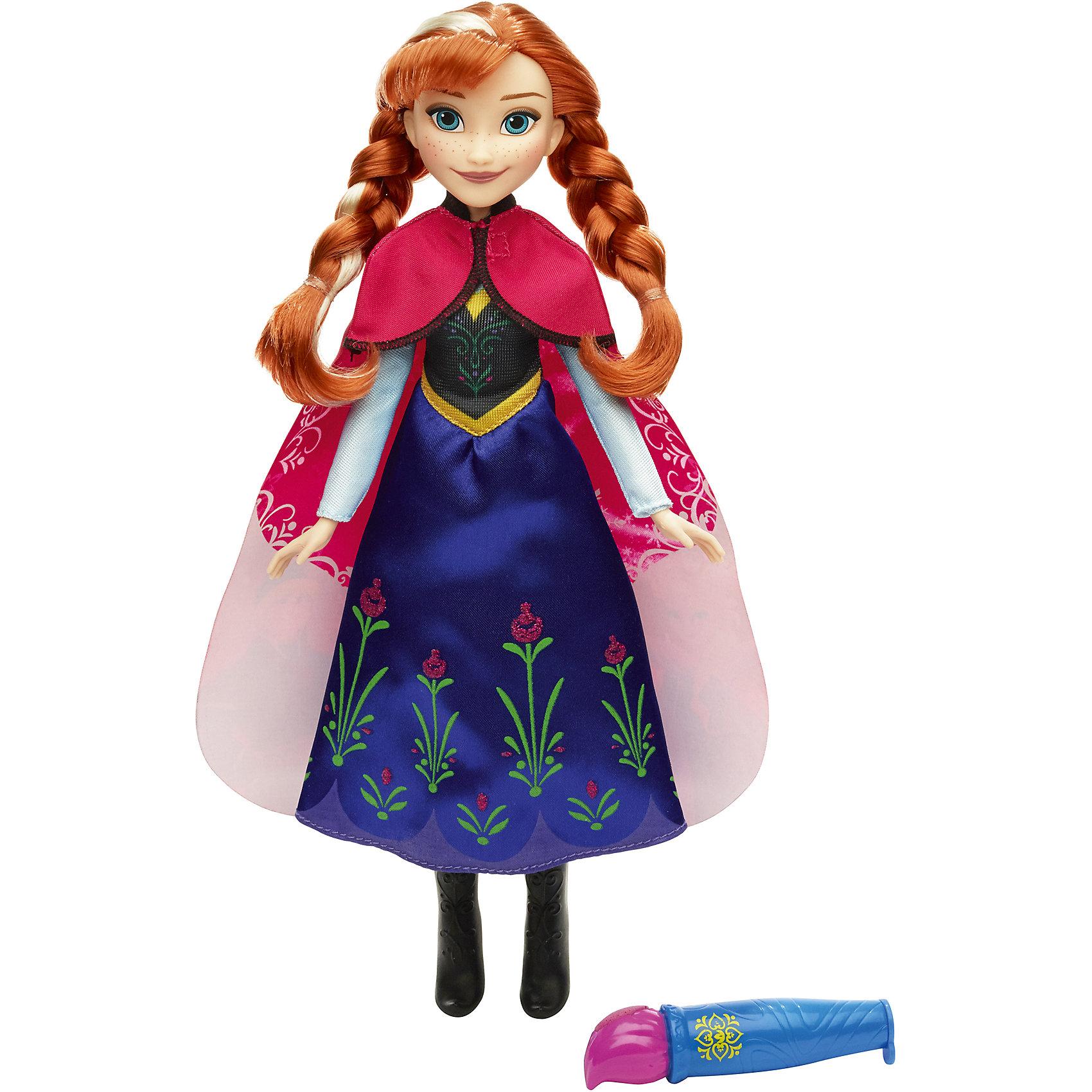 Hasbro Кукла Анна в наряде с проявляющимся рисунком, Холодное Сердце настольные игры hasbro операция холодное сердце