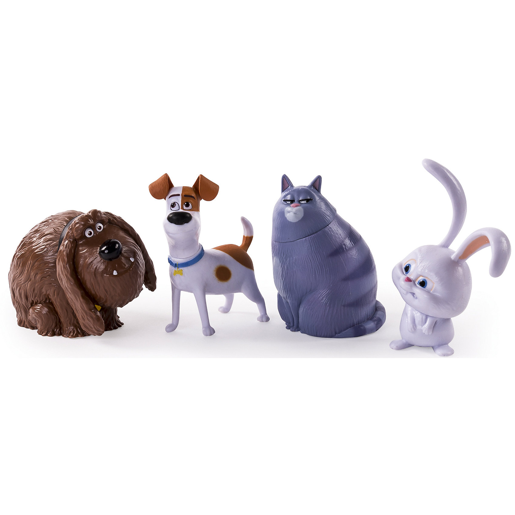 Набор из 4 фигурок героев, Тайная жизнь домашних животныхМир животных<br>Набор из 4 фигурок героев, Тайная жизнь домашних животных<br><br>Характеристики:<br><br>• игрушки имеют подвижные части<br>• в комплекте: 4 фигурки<br>• материал: пластик<br>• размер упаковки: 29х14х15,2 см<br>• вес: 200 грамм<br><br>Любители мультфильма Тайная жизнь домашних животных по достоинству оценят этот набор игрушек. В комплект входят 4 фигурки, являющиеся копиями главных героев мультипликационного фильма. Фигурки имеют подвижные части и способны принимать нужные позы в процессе игры. Кролик Снежок, Дворняжка Дюк, Кошка Хлоя и терьер Макс поднимут настроение вашему ребенку!<br><br>Набор из 4 фигурок героев, Тайная жизнь домашних животных вы можете купить в нашем интернет-магазине.<br><br>Ширина мм: 260<br>Глубина мм: 125<br>Высота мм: 25<br>Вес г: 460<br>Возраст от месяцев: 36<br>Возраст до месяцев: 144<br>Пол: Унисекс<br>Возраст: Детский<br>SKU: 4875038