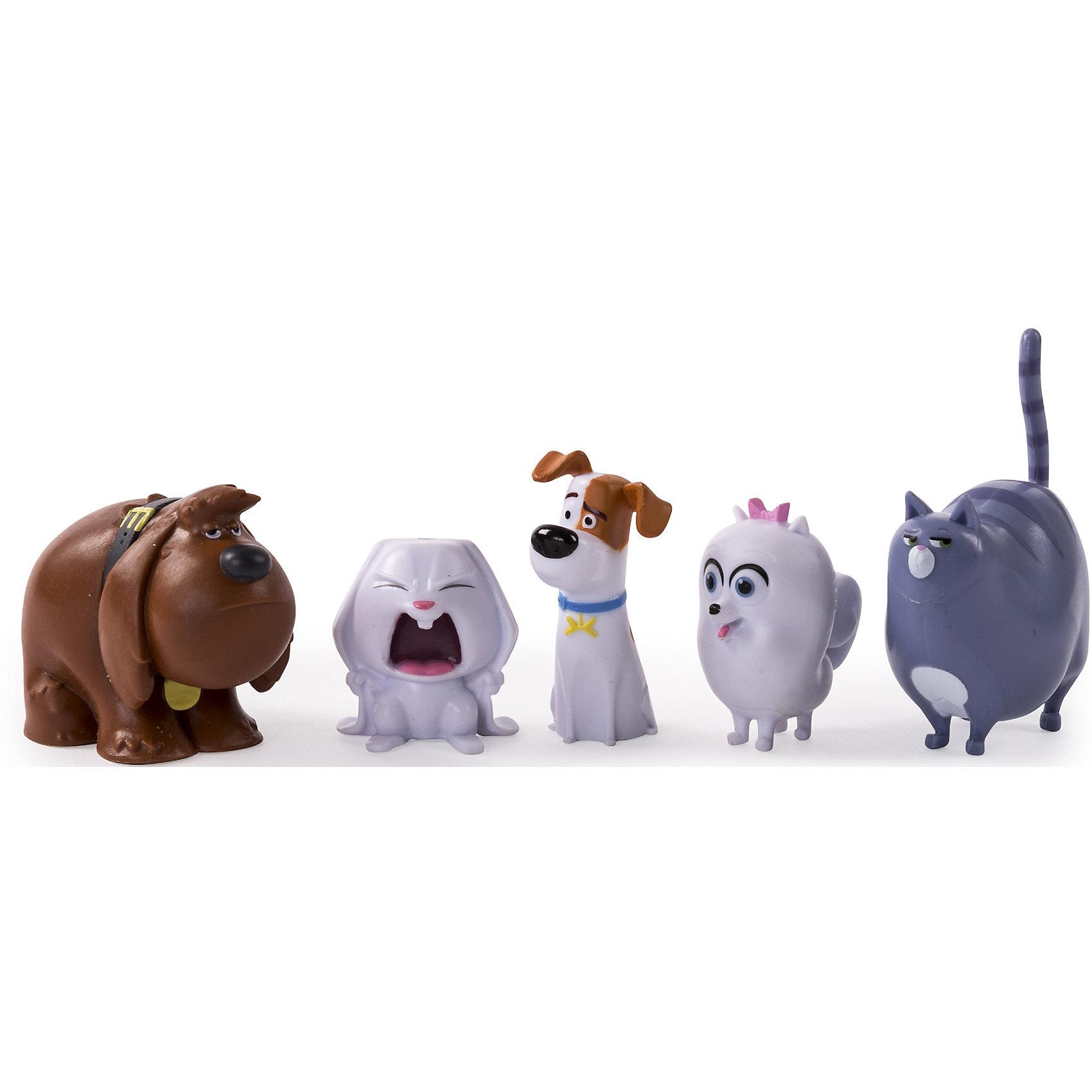Набор из 5 мини-фигурок, Тайная жизнь домашних животныхВ наборе представлены главные герои мультфильма - терьер Макс, дворняжка Дюк, злобный кролик Снежок, шпиц Гиджет и упитанная кошка Хлоя. Фигурки выполнены очень качественно, тщательно проработаны и выглядят точь-в-точь как их персонажи!<br><br>Ширина мм: 155<br>Глубина мм: 125<br>Высота мм: 45<br>Вес г: 153<br>Возраст от месяцев: 36<br>Возраст до месяцев: 144<br>Пол: Унисекс<br>Возраст: Детский<br>SKU: 4875040