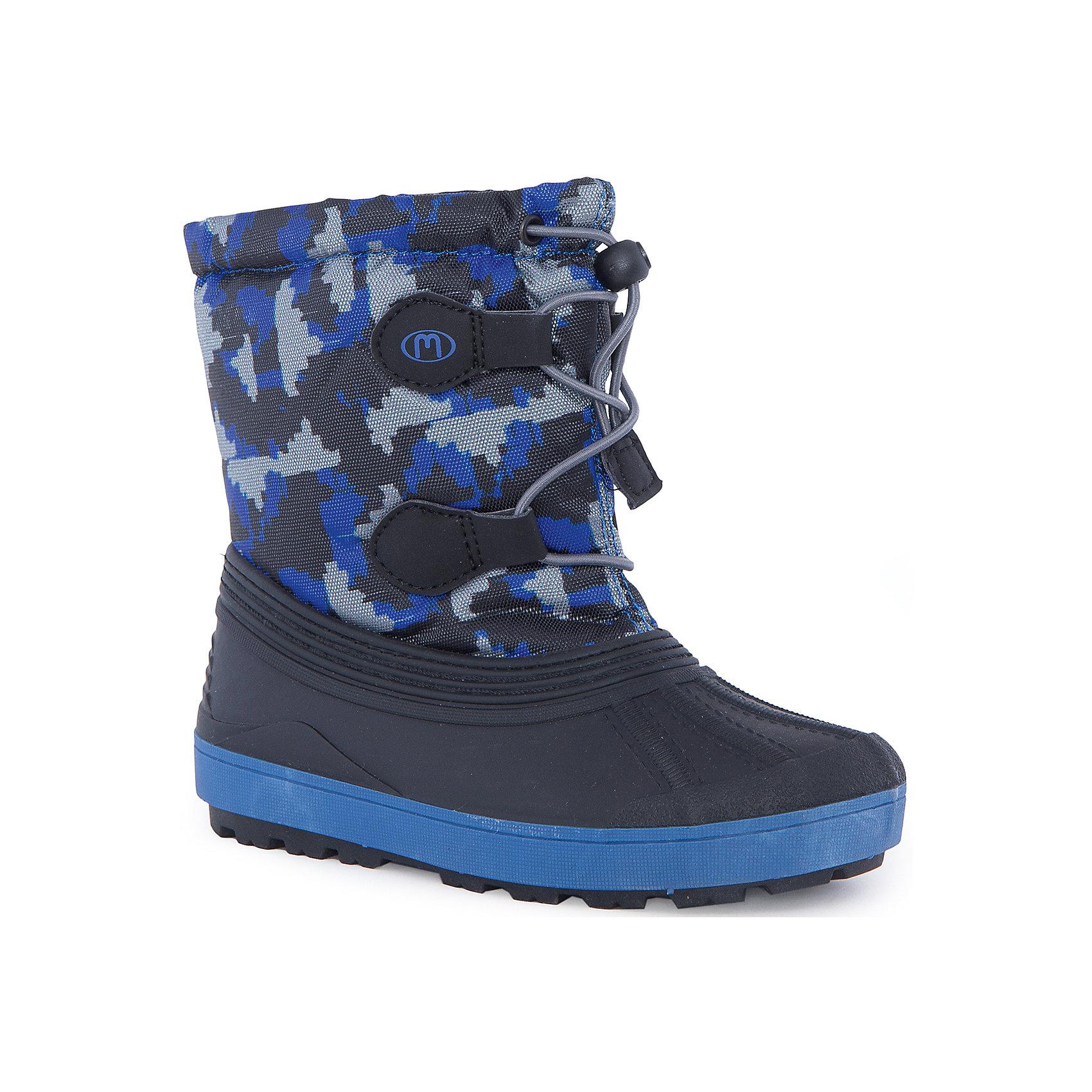 Сноубутсы для мальчика MursuОбувь<br>Сноубутсы для мальчика MURSU (Мурсу).<br><br>Характеристики:<br><br>• цвет: синий<br>• температурный режим до -25С<br>• материал верха: текстиль, резина<br>• внутренний материал: шерсть мех<br>• стелька: шерсть мех<br>• подошва: ТЭП<br>• утяжка по высоте сноубутсов<br>• сезон: зима <br><br>Сноубутсы MURSU очень удобные и теплые. Рифленая подошва обеспечит хорошую устойчивость в холодное время года. Шерстяная стелька и подкладка гарантируют тепло и сухость. Модель утягивается по толщине ноги. В этих сноубутсах ребенку будет очень комфортно даже в мороз!<br><br>Сноубутсы для мальчика MURSU (Мурсу) вы можете купить в нашем интернет-магазине.<br><br>Ширина мм: 262<br>Глубина мм: 176<br>Высота мм: 97<br>Вес г: 427<br>Цвет: синий<br>Возраст от месяцев: -2147483648<br>Возраст до месяцев: 2147483647<br>Пол: Мужской<br>Возраст: Детский<br>Размер: 24/25,30/31,28/29,26/27<br>SKU: 4876299