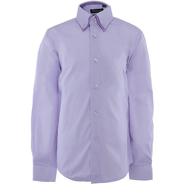 Купить Рубашка для мальчика Skylake, Россия, лиловый, 122, 128, 134, 158, 140, 152, 146, Мужской