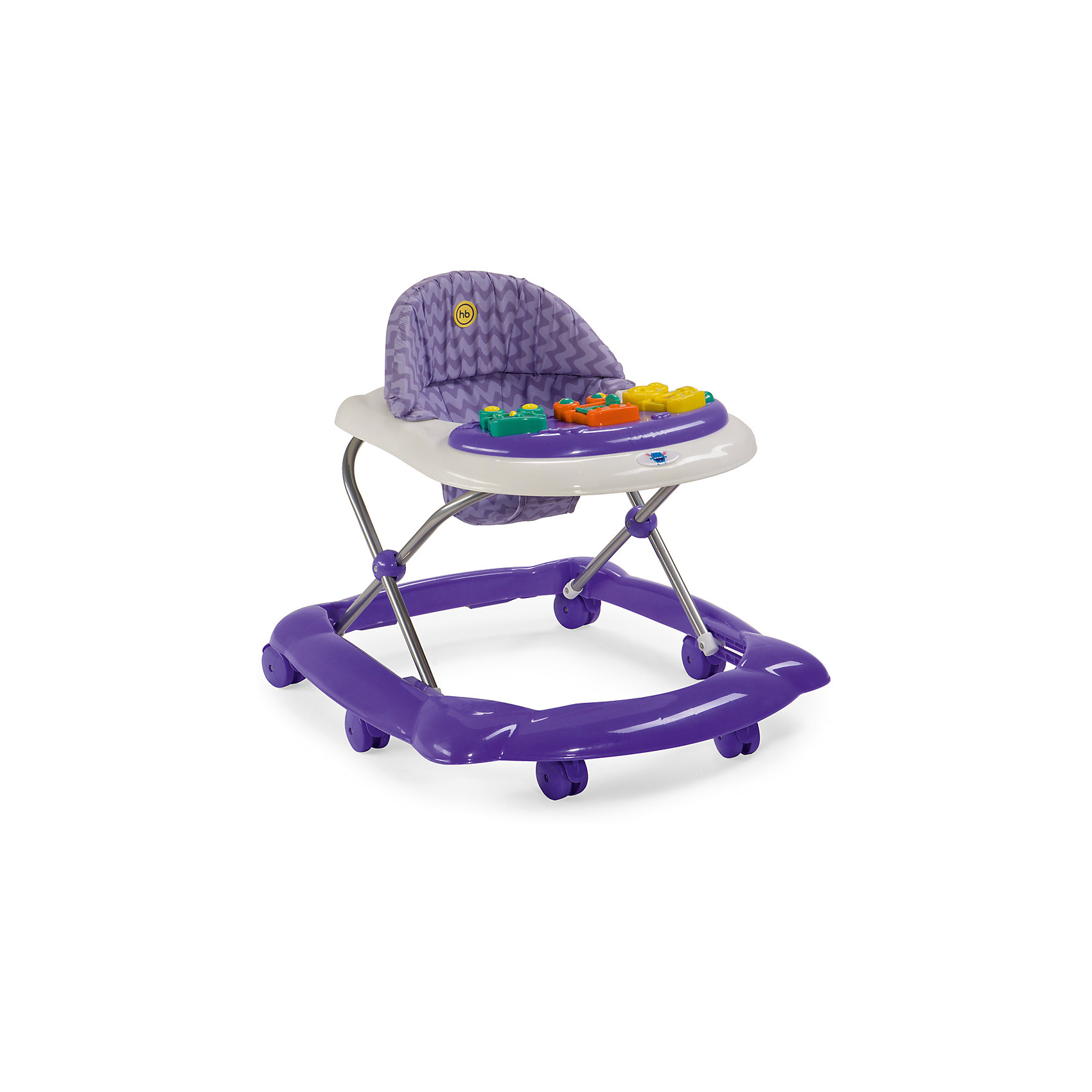 Ходунки Pioneer, Happy baby, фиолетовыйСтильные Ходунки Pioneer, Happy baby  помогут Вашему  малышу,  научится ходить,  а в дальнейшем  свободно передвигаться по дому! Лёгкие и маневренные ходунки привьют Вашему ребенку навыки ходьбы; научат держать вертикальное положение и  соблюдать равновесие, укрепят мышцы ног и спины. Цветная панель с разнообразными игрушками обязательно привлечет внимание крохи и займет его на некоторое время, а Вы сможете немного передохнуть или заняться делами, наблюдая, как Ваш ребенок играет. Для обеспечения работы игровой панели требуется 2 батареек типа АА.  Шесть силиконовых колес не поцарапают напольное покрытие, а две кнопки стопора позволяют контролировать передвижение ребенка. Высота пластикового  сидения регулируется и фиксируется в одном из трех положений в зависимости от роста ребенка. Съемный чехол сидения легко поддается чистке.<br><br>Дополнительная информация: <br><br>   - габариты в сложенном виде дхшхв: 67*58*30 см<br>    - габариты в разложенном виде дхшхв: 67*58*57 см<br>    - развивают координацию движений<br>    - учат ребенка держать равновесие<br>    - регулируются по высоте: 3 положения<br>    - пластиковые колеса: 6 шт.<br>    - стопоры-ограничители движения ходунка: 2 шт.<br>    - игровая панель со звуковыми и световыми эффектами: 3 мелодии<br>    - развивающие игрушки<br>    - для работы игровой панели необходимо 2 батарейки типа АА<br><br>Ходунки Pioneer торговой марки  Happy baby  можно купить в нашем интернет-магазине.<br><br>Ширина мм: 150<br>Глубина мм: 600<br>Высота мм: 660<br>Вес г: 2600<br>Возраст от месяцев: 7<br>Возраст до месяцев: 18<br>Пол: Унисекс<br>Возраст: Детский<br>SKU: 4878590