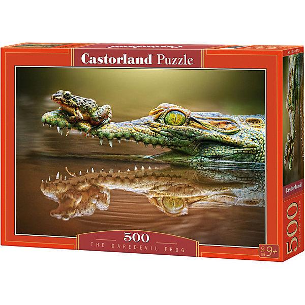 Пазл Крокодил, 500 деталей, CastorlandПазлы классические<br>Характеристики:<br><br>• размер упаковки: 22х32х4,5см.;<br>• количество элементов: 500шт.;<br>• размер готовой картинки: 47х33см.;<br>• материал: картон;<br>• вес: 312г.;<br>• для детей в возрасте: от 9 лет;<br>• страна производитель: Польша;<br><br> Красочный пазл «Крокодил» бренда Castorland (Касторланд) станет замечательным экземпляром для домашней коллекции головоломок. Это лицензионный пазл сделанный из экологически чистых материалов, которые безопасны для детей.<br><br>Мозаика имеет пятьсот разноцветных элементов, что делает сборку интереснее и труднее. Быстрее с пазлом справятся дети, которые уже имеют опыт игры с пазлами. В составлении картинки могут участвовать все члены семьи, что очень объединяет.<br><br>Собранный пазл превращается в настоящее произведение искусства. Большая яркая картина может украсить интерьер любой комнаты. Её цвета мягкие и спокойные, они не напрягают глаза, и дарят ощущение спокойствия.<br><br>Составление пазлов помогает детям развивать образное и логическое мышление, внимательность, учит правильно воспринимать связь между частью и целым, усидчивость, мелкую моторику, просто с пользой провести время.<br><br>Пазл «Крокодил», можно купить в нашем интернет-магазине.<br>Ширина мм: 320; Глубина мм: 47; Высота мм: 220; Вес г: 300; Возраст от месяцев: 72; Возраст до месяцев: 1188; Пол: Унисекс; Возраст: Детский; SKU: 4879204;
