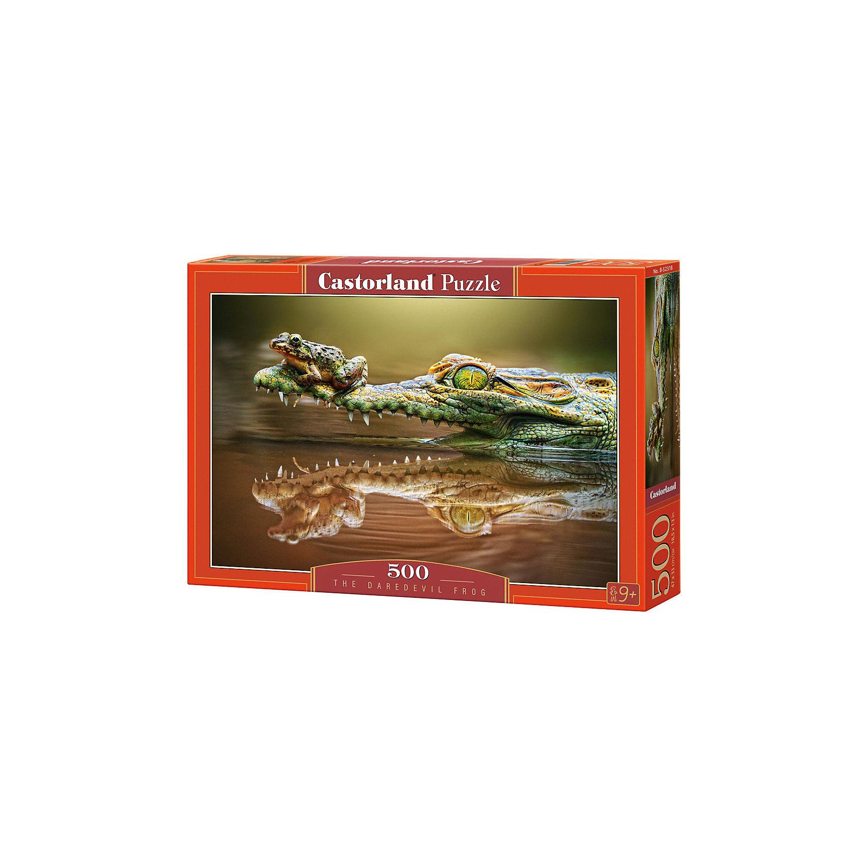 Castorland Пазл Крокодил, 500 деталей, Castorland castorland пазл манхэттен до 11 09 2001 2000 деталей castorland