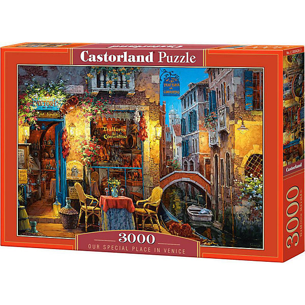 Пазл Венеция, 3000 деталей, CastorlandПазлы классические<br>Характеристики:<br><br>• размер упаковки: 39х5х28см.;<br>• количество элементов: 3000шт.;<br>• размер готовой картинки:92х68см.;<br>• материал: картон;<br>• вес: 950г.;<br>• для детей в возрасте: от 9 лет;<br>• страна производитель: Польша;<br><br> Красочный пазл «Венеция» бренда Castorland (Касторланд) станет замечательным экземпляром для домашней коллекции головоломок. Это лицензионный пазл сделанный из экологически чистых материалов, которые безопасны для детей.<br><br>Мозаика имеет три тысячи разноцветных элементов, что делает сборку интереснее и труднее. Быстрее с пазлом справятся дети, которые уже имеют опыт игры с пазлами. В составлении картинки могут участвовать все члены семьи, что очень объединяет.<br><br>Собранный пазл превращается в настоящее произведение искусства. Большая яркая картина может украсить интерьер любой комнаты. Её цвета мягкие и спокойные, они не напрягают глаза, и дарят ощущение спокойствия.<br><br>Составление пазлов помогает детям развивать образное и логическое мышление, внимательность, учит правильно воспринимать связь между частью и целым, усидчивость, мелкую моторику, просто с пользой провести время.<br><br>Пазл «Венеция», можно купить в нашем интернет-магазине.<br>Ширина мм: 385; Глубина мм: 50; Высота мм: 275; Вес г: 1000; Возраст от месяцев: 144; Возраст до месяцев: 1188; Пол: Унисекс; Возраст: Детский; SKU: 4879205;