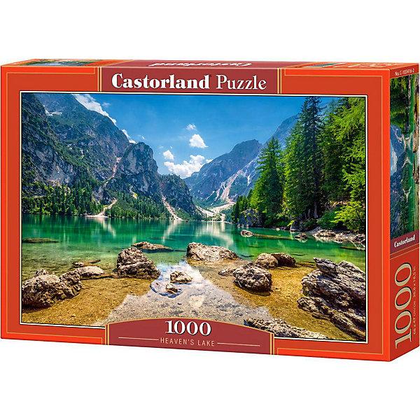 Пазл Озеро в горах, 1000 деталей, CastorlandПазлы классические<br>Характеристики:<br><br>• размер упаковки: 25х35х5см.;<br>• количество элементов: 1000шт.;<br>• размер готовой картинки: 68х47см.;<br>• материал: картон;<br>• вес: 608г.;<br>• для детей в возрасте: от 9 лет;<br>• страна производитель: Польша;<br><br> Красочный пазл «Озеро в горах» бренда Castorland (Касторланд) станет замечательным экземпляром для домашней коллекции головоломок. Это лицензионный пазл сделанный из экологически чистых материалов, которые безопасны для детей.<br><br>Мозаика имеет тысячу разноцветных элементов, что делает сборку интереснее и труднее. Быстрее с пазлом справятся дети, которые уже имеют опыт игры с пазлами. В составлении картинки могут участвовать все члены семьи, что очень объединяет.<br><br>Собранный пазл превращается в настоящее произведение искусства. Большая яркая картина может украсить интерьер любой комнаты. Её цвета мягкие и спокойные, они не напрягают глаза, и дарят ощущение спокойствия.<br><br>Составление пазлов помогает детям развивать образное и логическое мышление, внимательность, учит правильно воспринимать связь между частью и целым, усидчивость, мелкую моторику, просто с пользой провести время.<br><br>Пазл «Озеро в горах», можно купить в нашем интернет-магазине.<br>Ширина мм: 350; Глубина мм: 50; Высота мм: 250; Вес г: 500; Возраст от месяцев: 168; Возраст до месяцев: 1188; Пол: Унисекс; Возраст: Детский; SKU: 4879215;